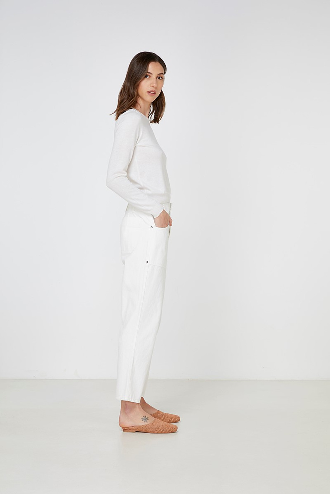 Elka Collective Gale Knit White  7