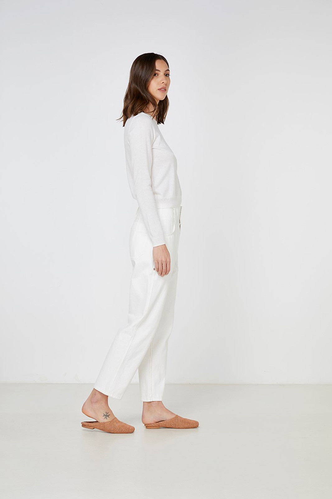 Elka Collective Gale Knit White  8