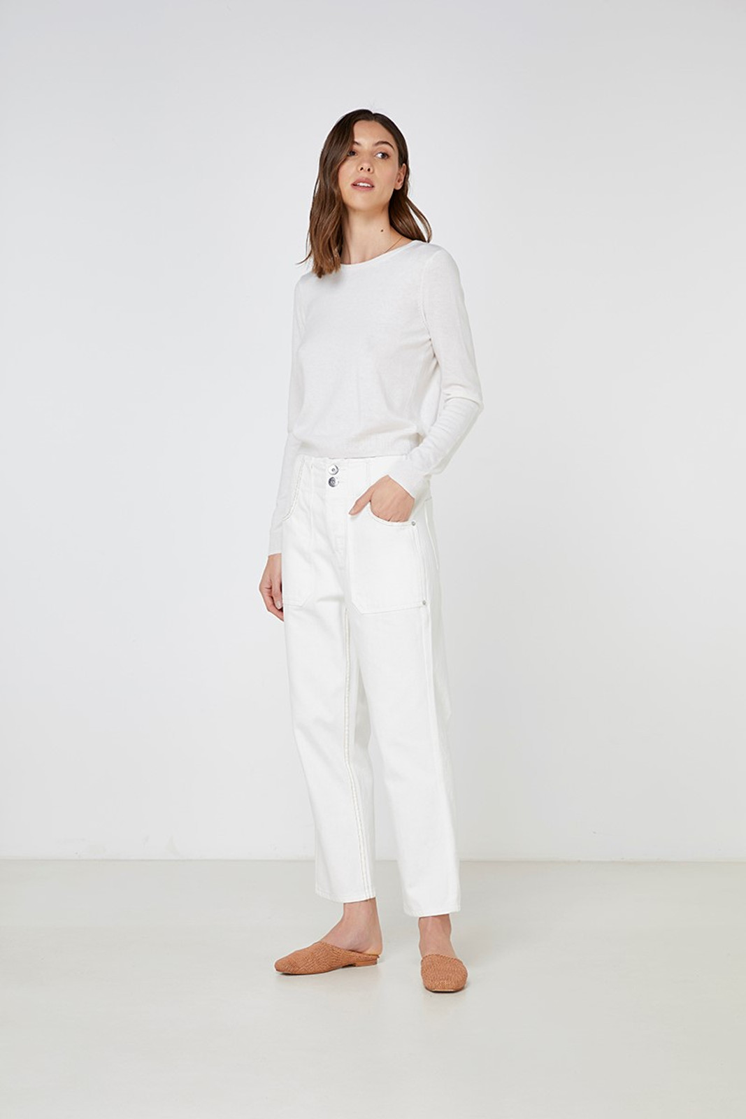 Elka Collective Gale Knit White  1