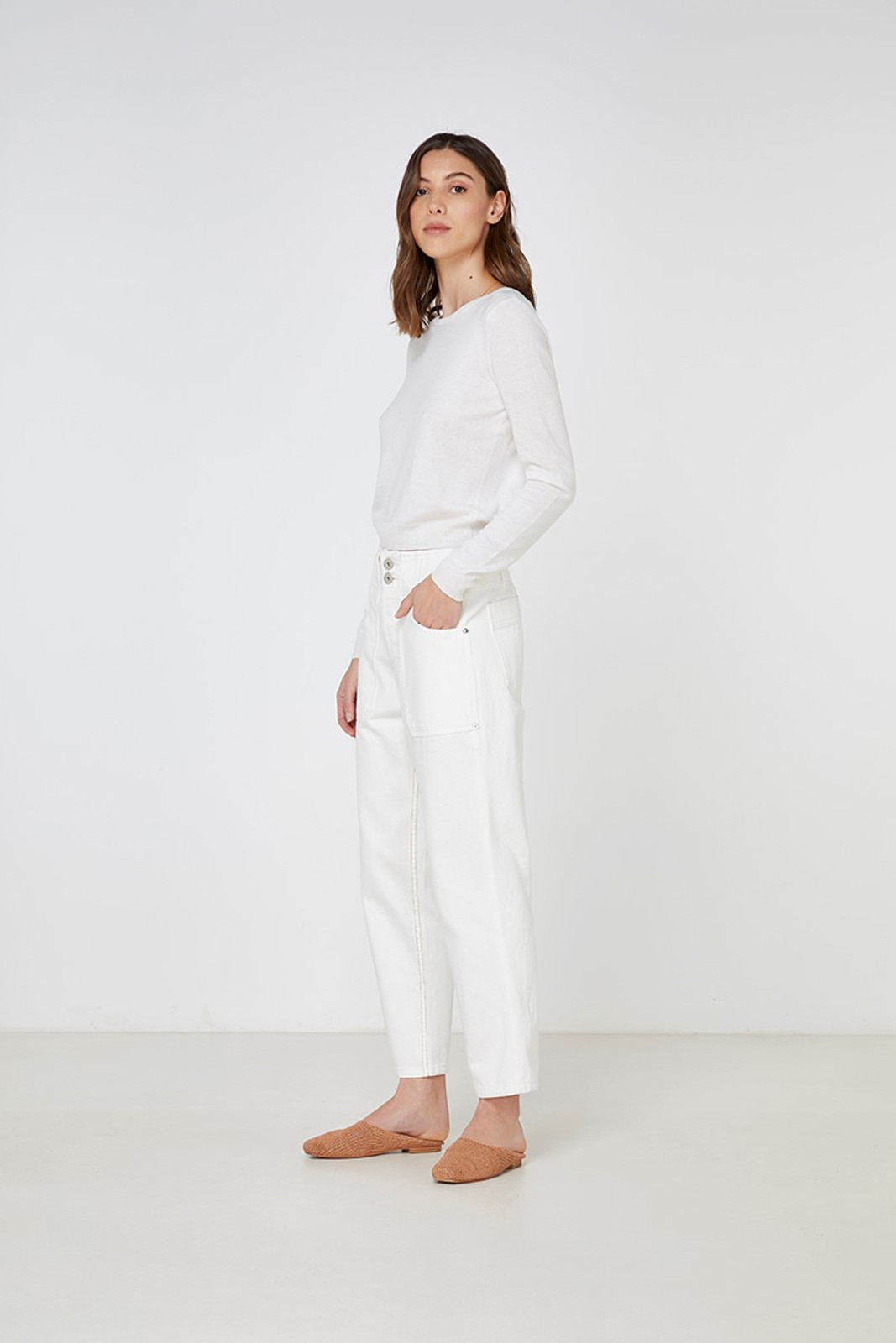 Elka Collective Gale Knit White  2