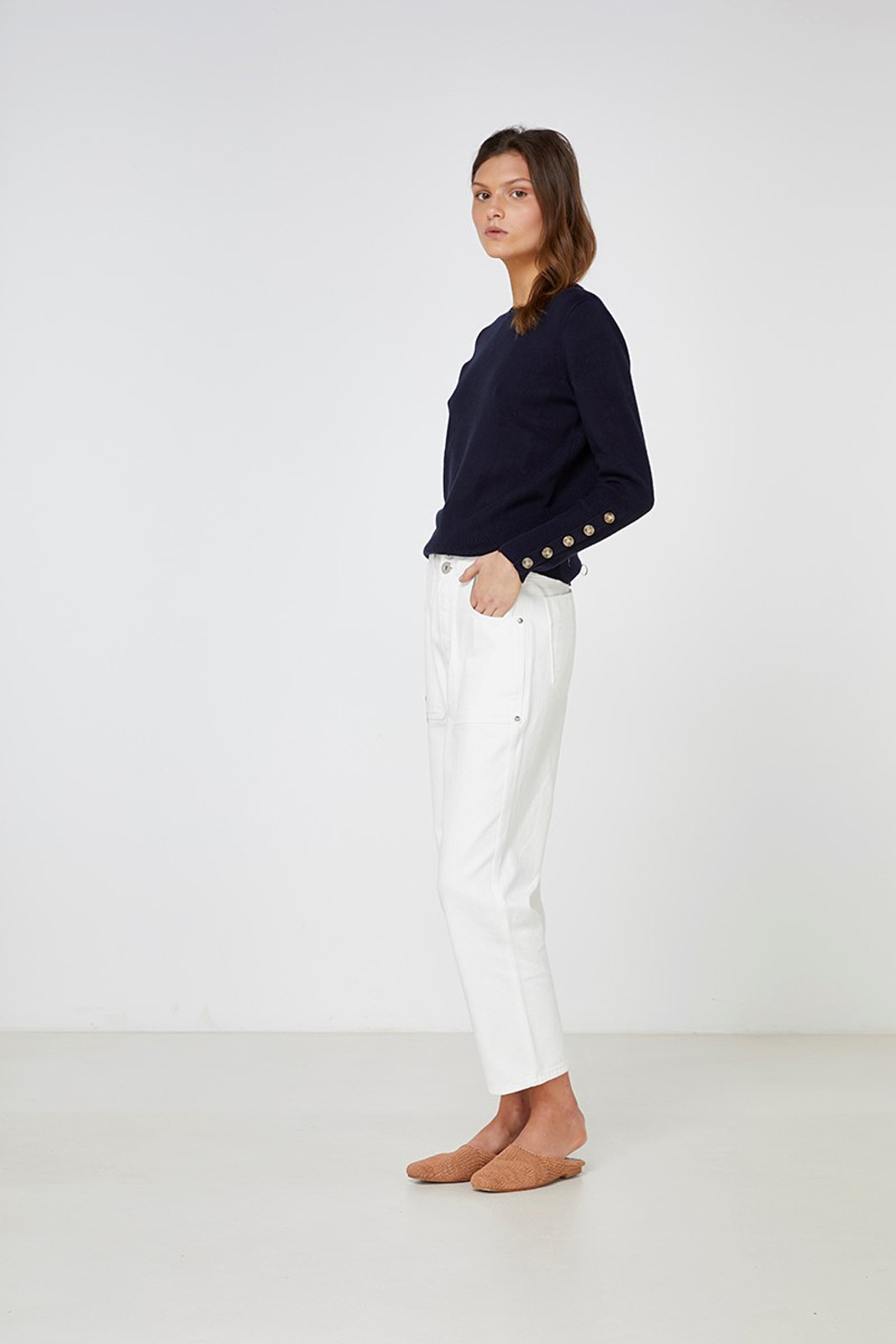 Elka Collective Mateo Knit Navy  1