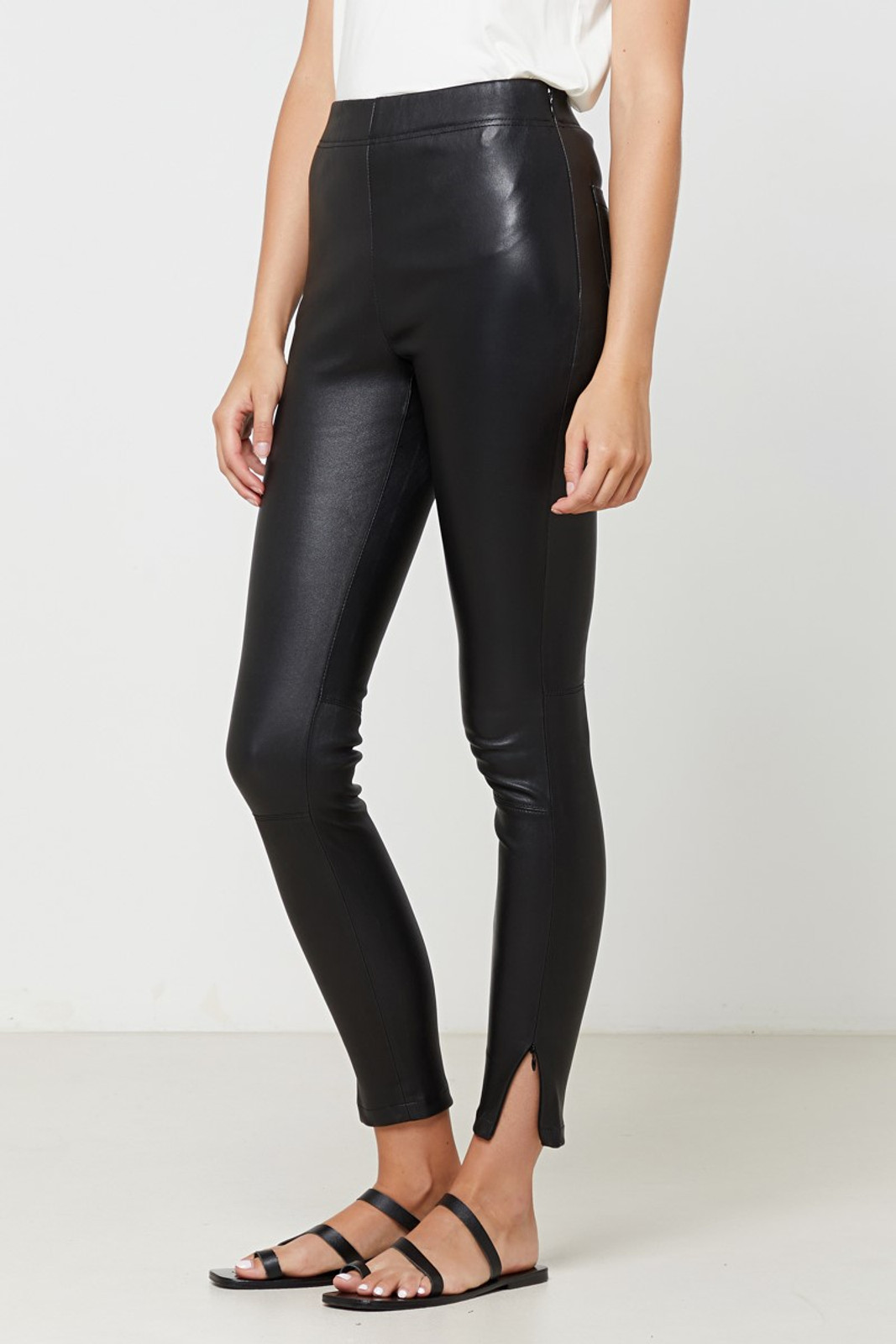 Elka Collective Rosa Leather Pant Black  1