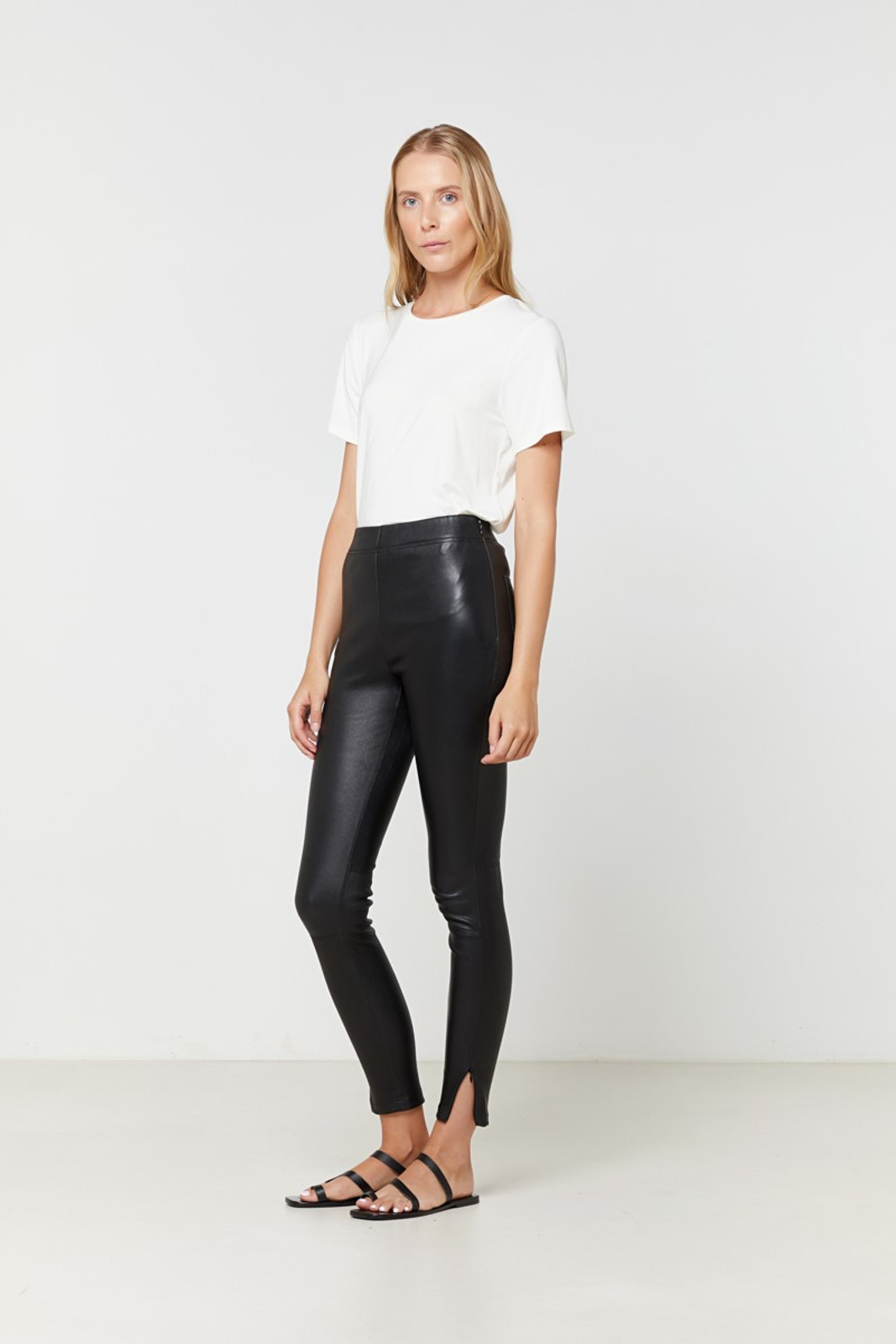 Elka Collective Rosa Leather Pant Black  2