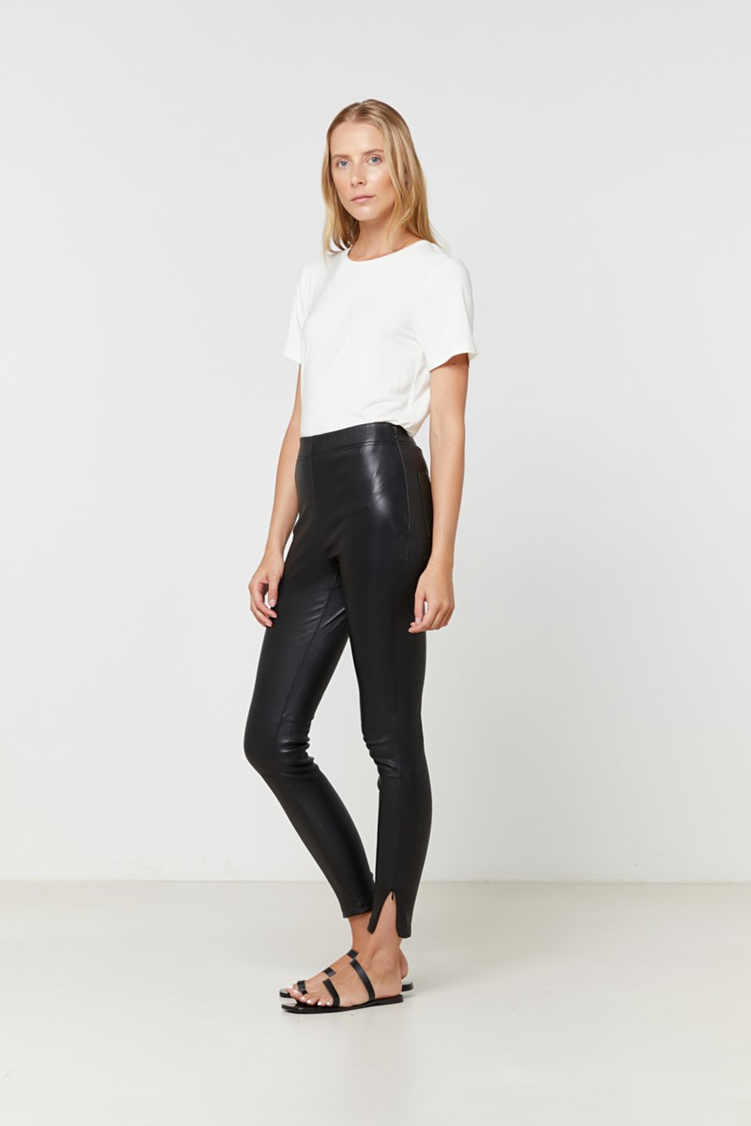 Elka Collective Rosa Leather Pant Black  3