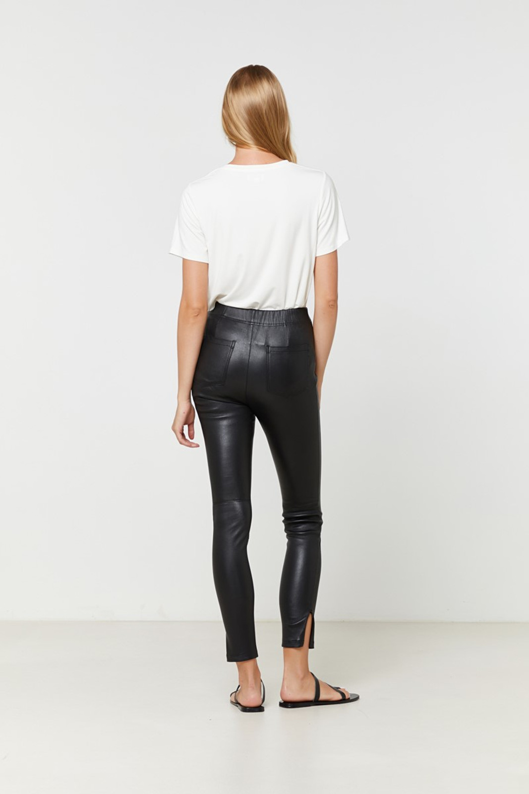 Elka Collective Rosa Leather Pant Black  8