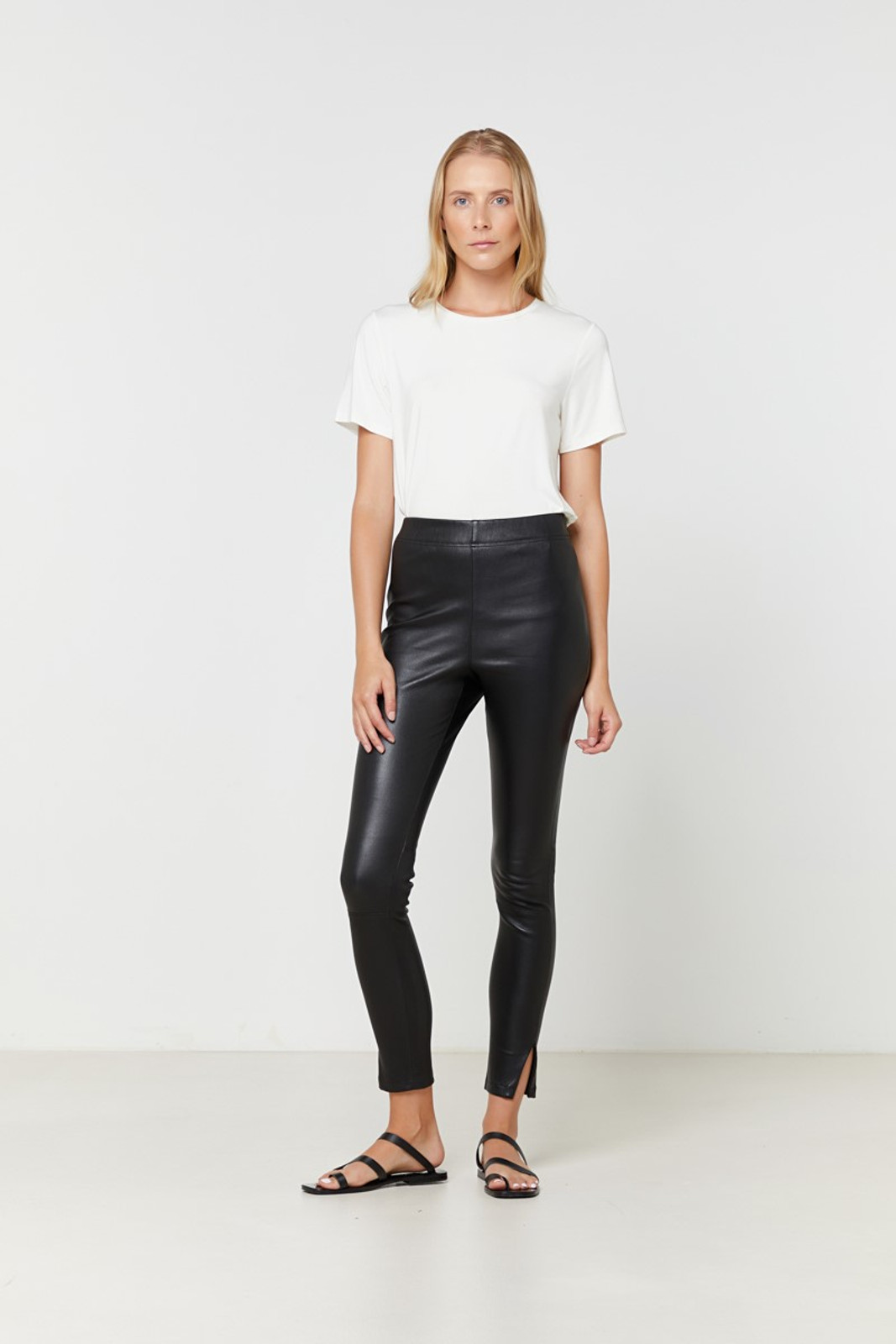 Elka Collective Rosa Leather Pant Black  4