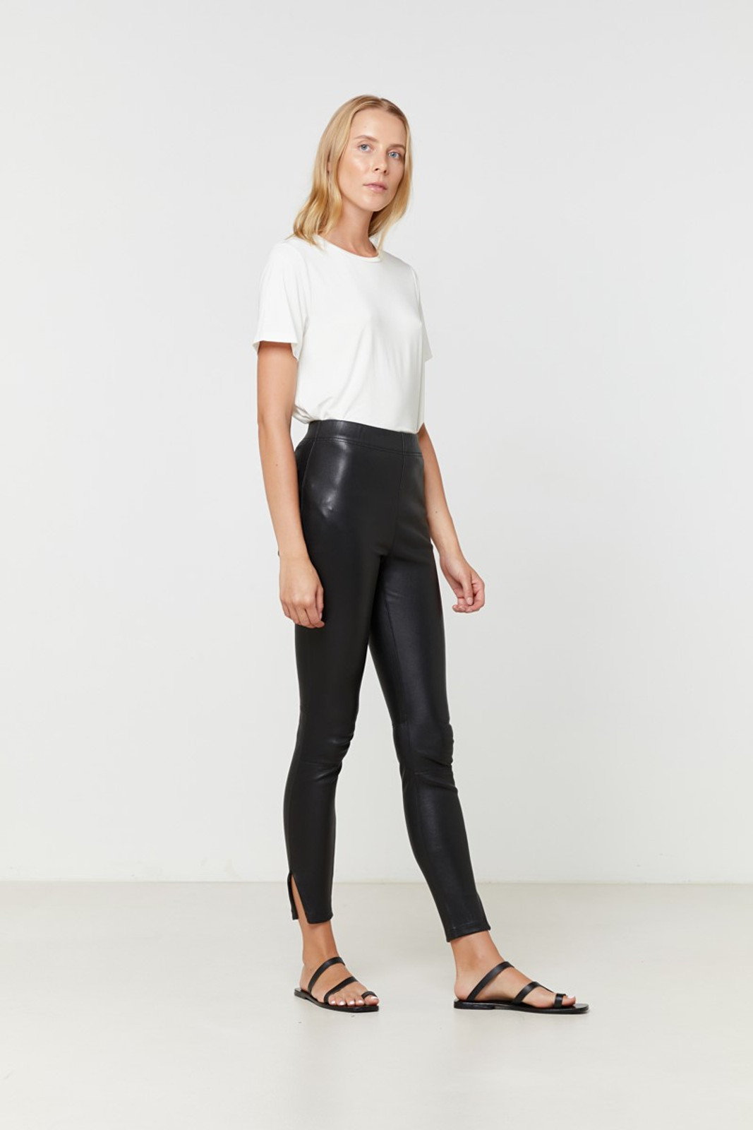 Elka Collective Rosa Leather Pant Black  5