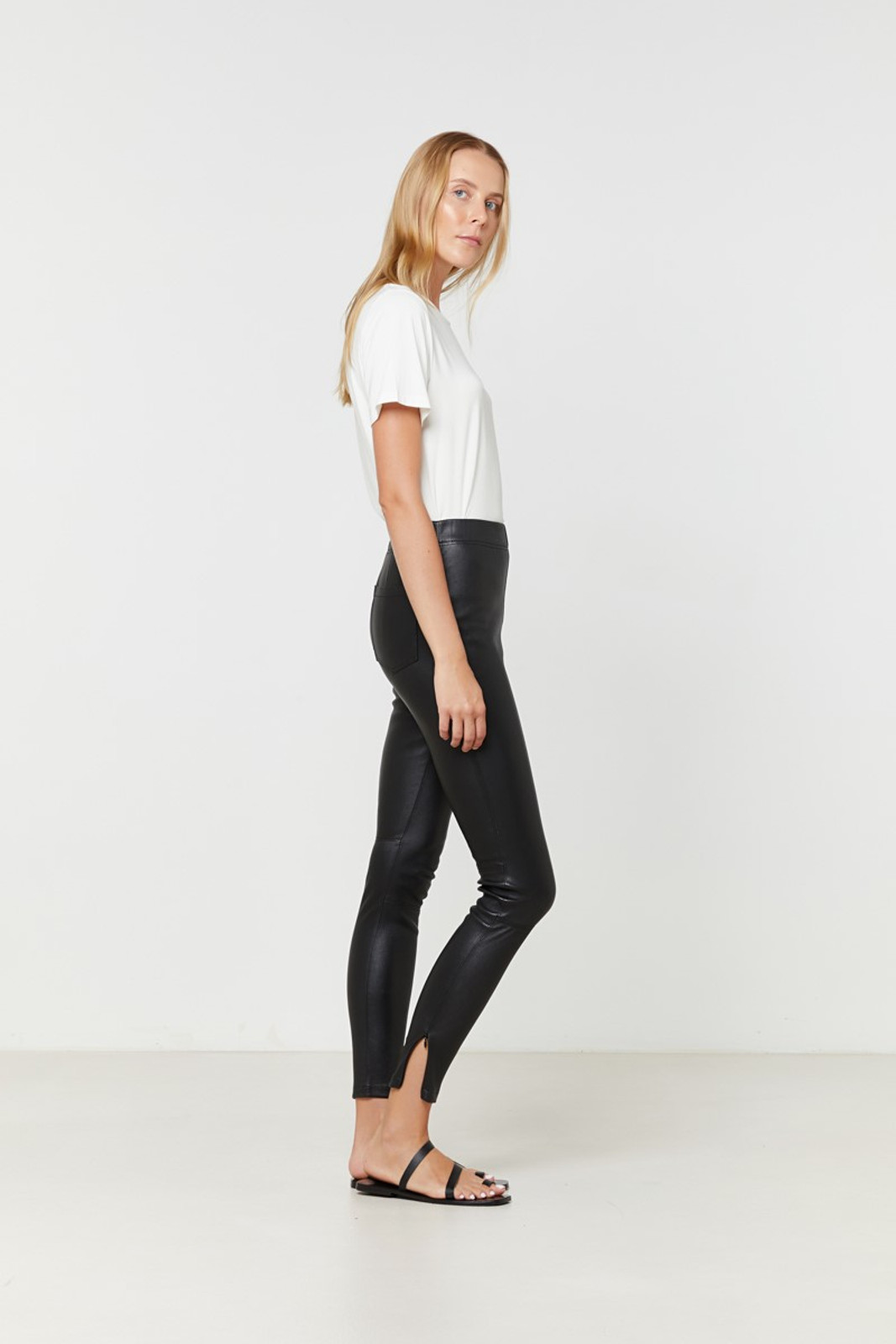 Elka Collective Rosa Leather Pant Black  6