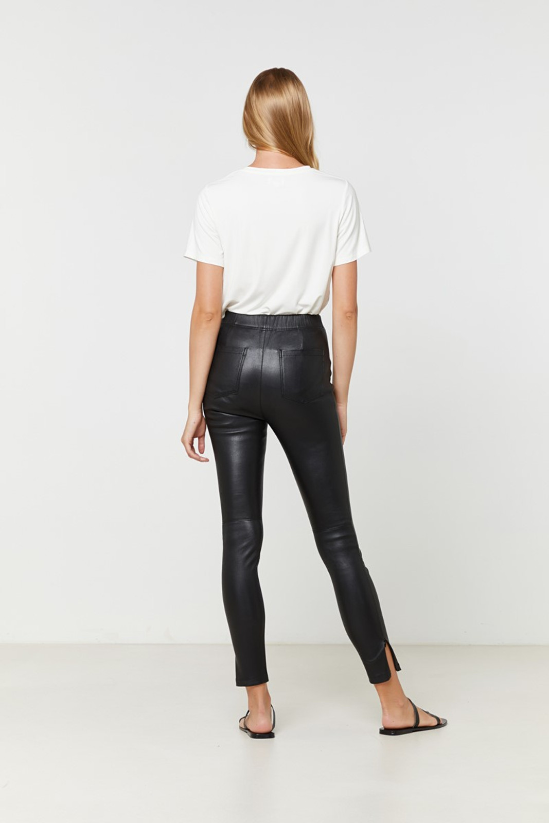 Elka Collective Rosa Leather Pant Black  7