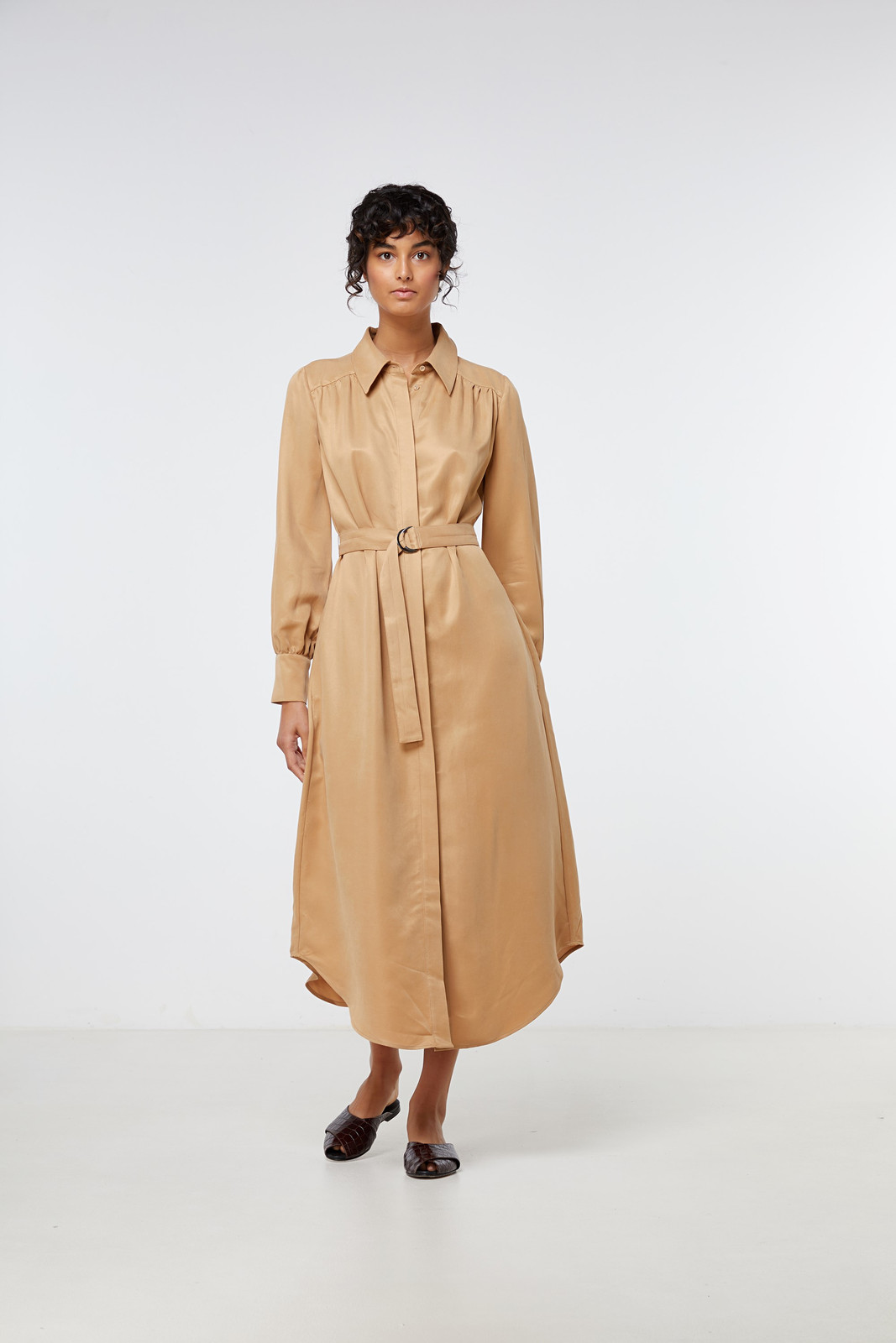 Elka Collective Ascot Dress Neutrals  0