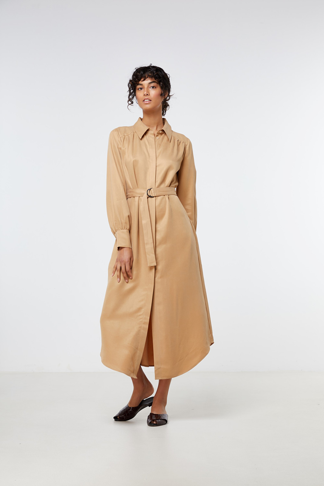 Elka Collective Ascot Dress Neutrals  2