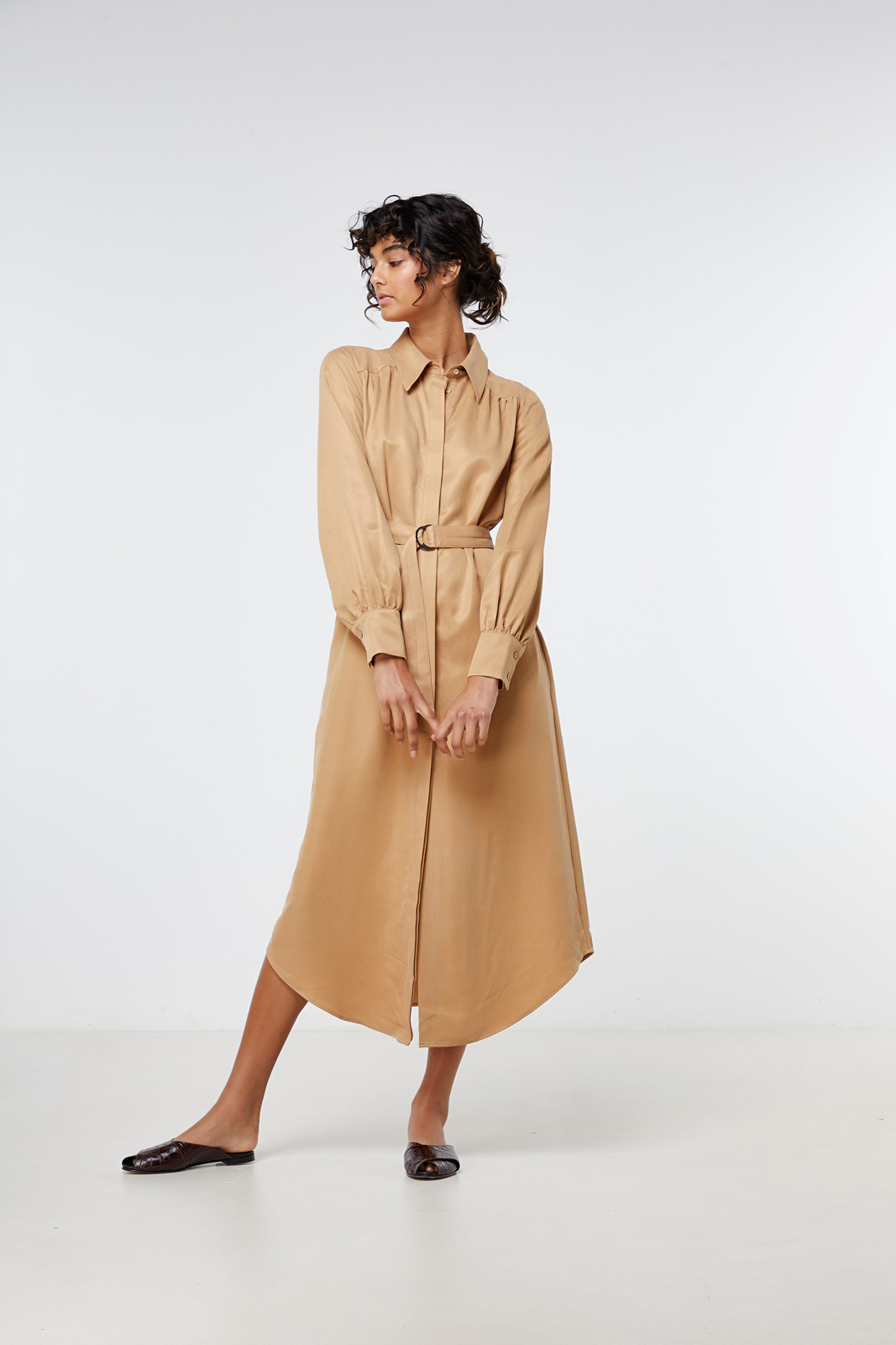 Elka Collective Ascot Dress Neutrals  3