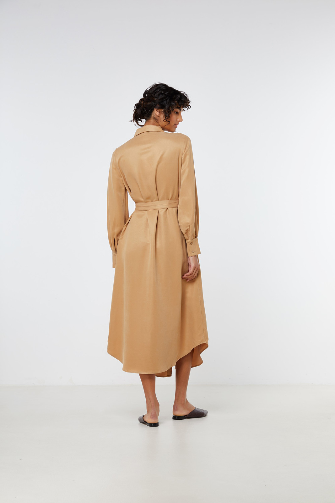 Elka Collective Ascot Dress Neutrals  9