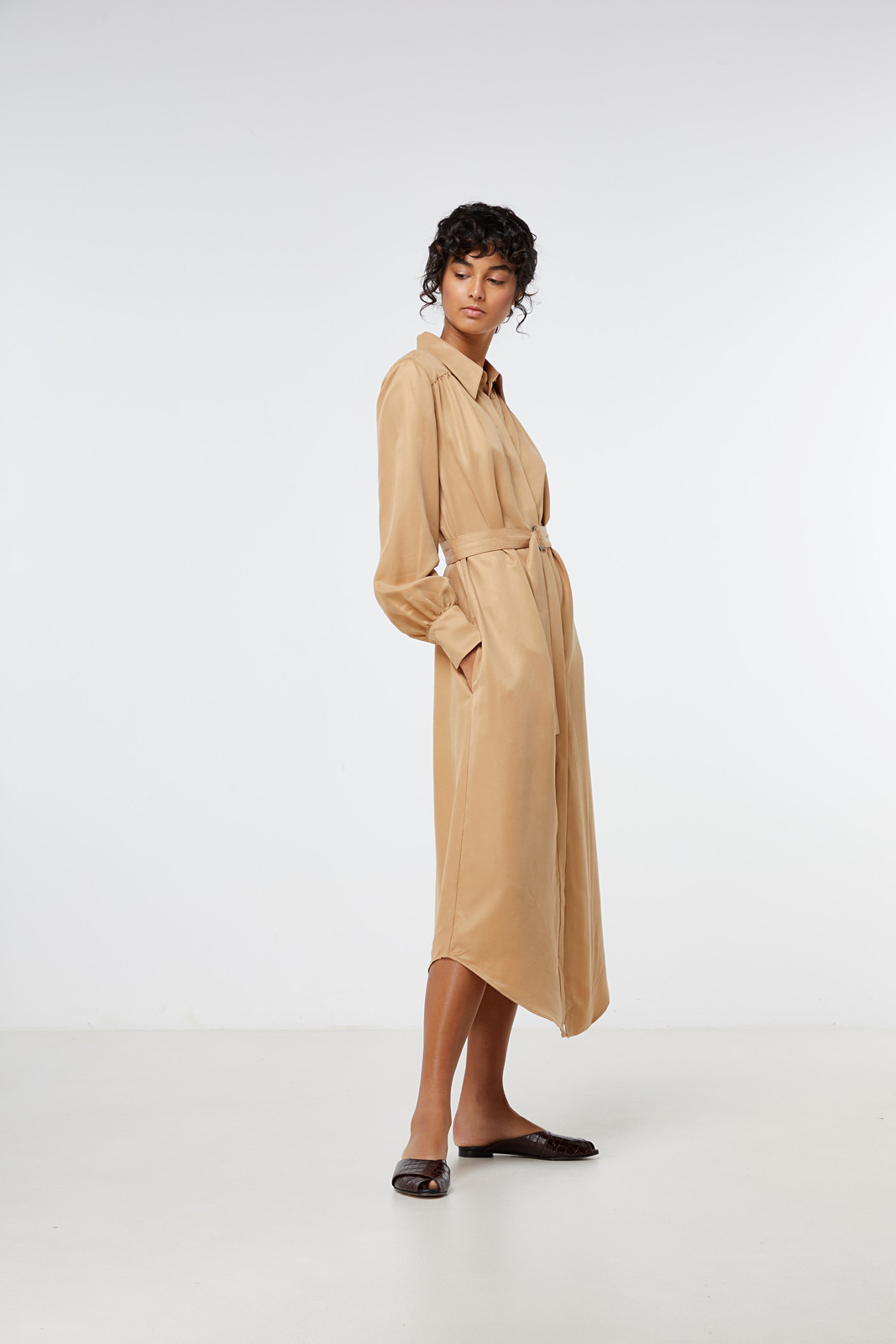 Elka Collective Ascot Dress Neutrals  4