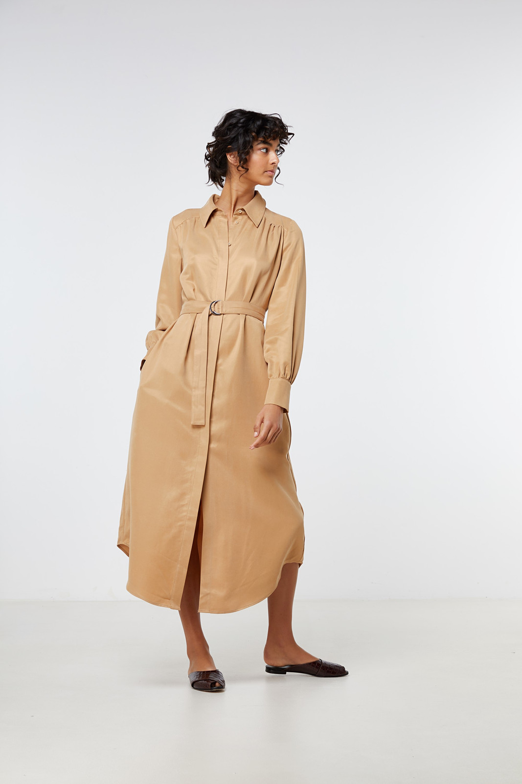 Elka Collective Ascot Dress Neutrals  5