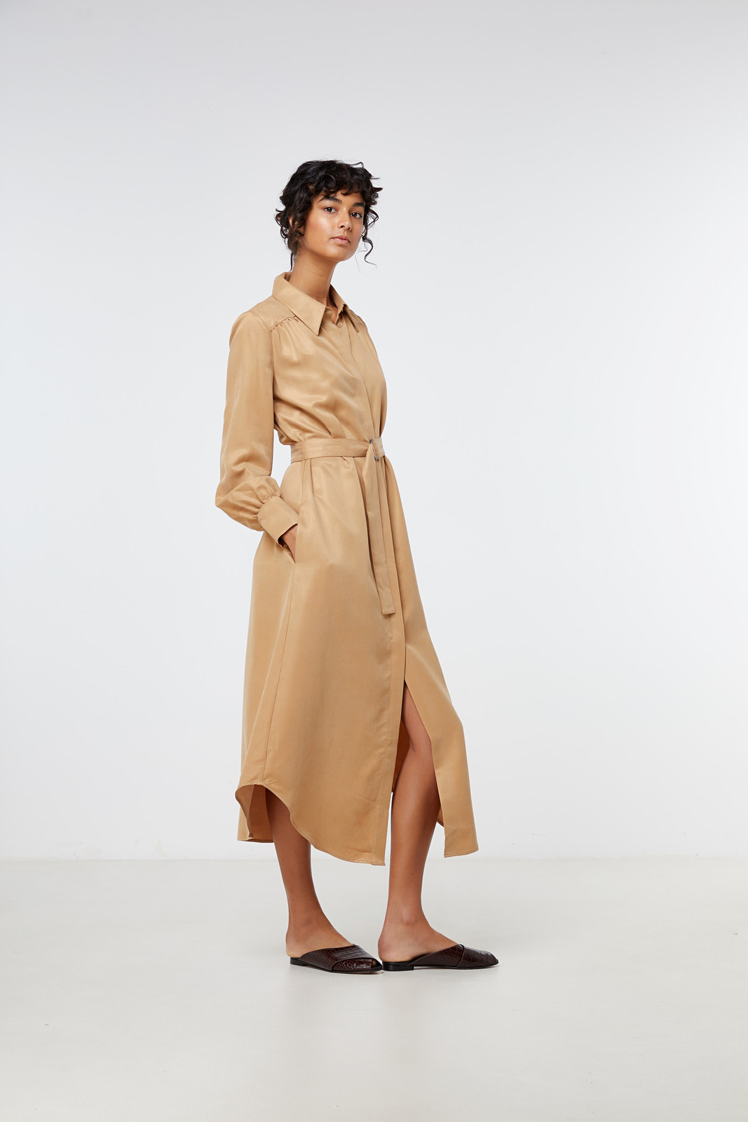Elka Collective Ascot Dress Neutrals  6