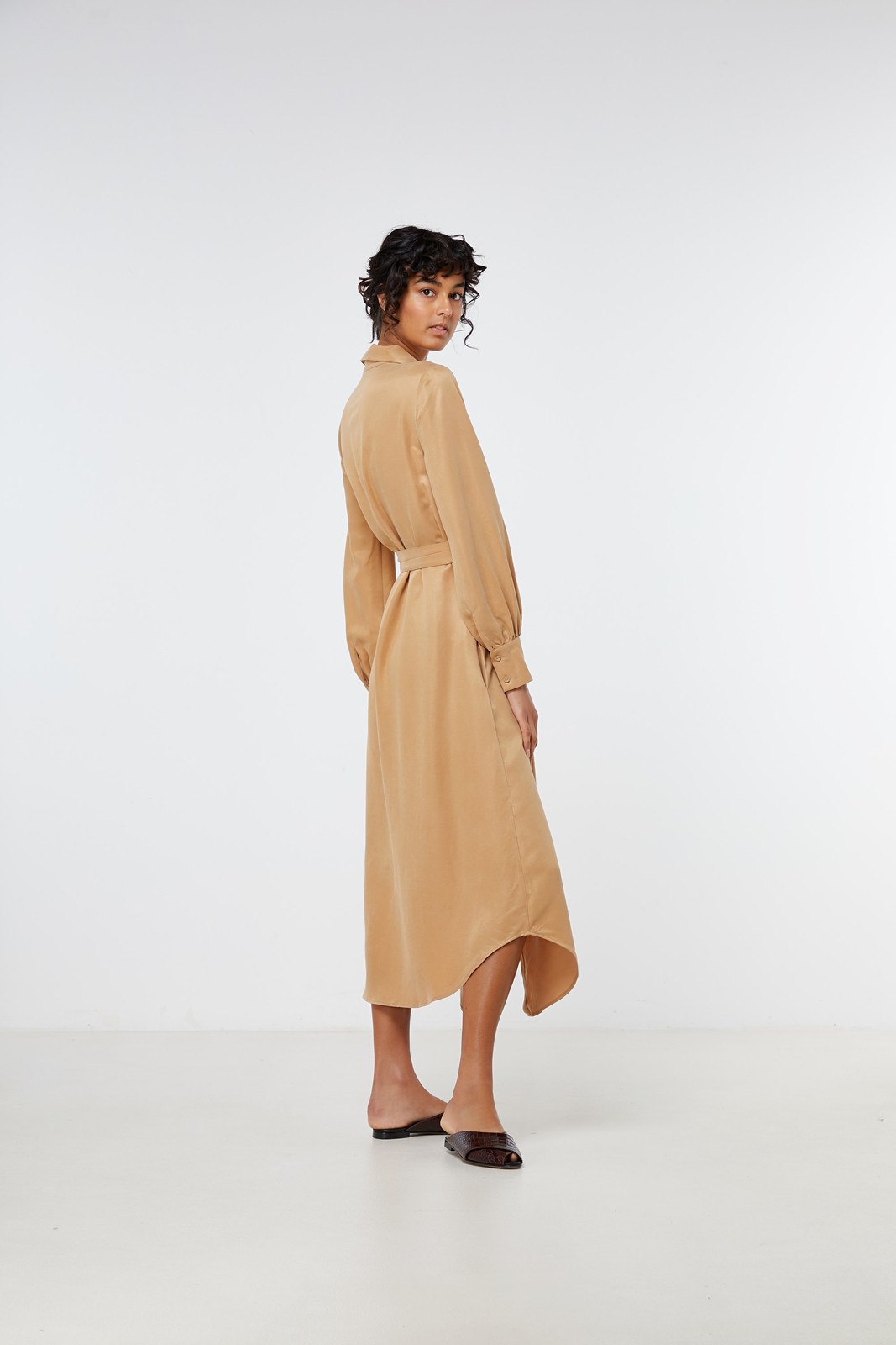 Elka Collective Ascot Dress Neutrals  7