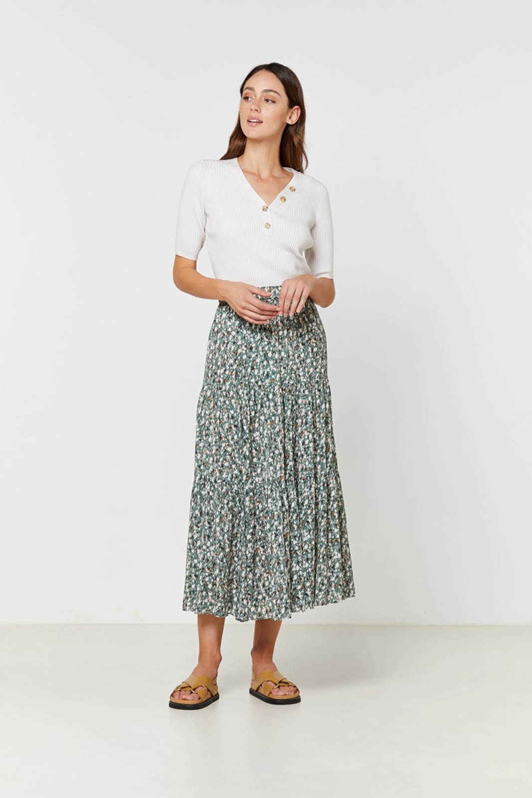 Elka Collective Sherry Knit Top Neutrals  0