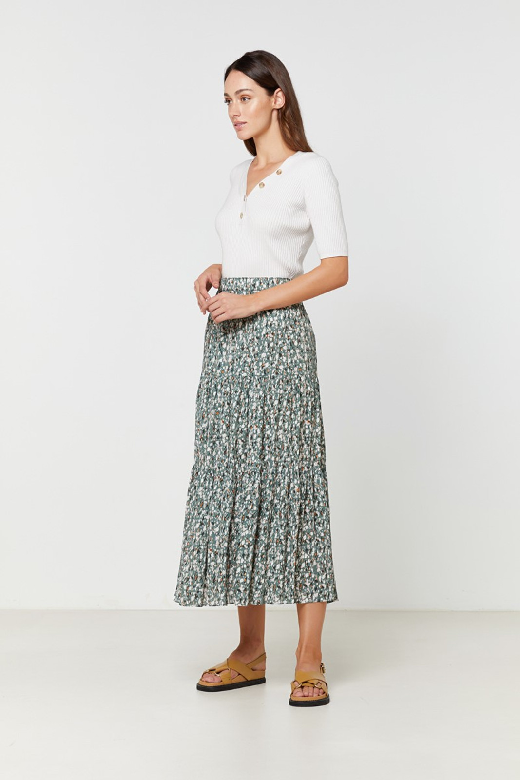 Elka Collective Sherry Knit Top Neutrals  2