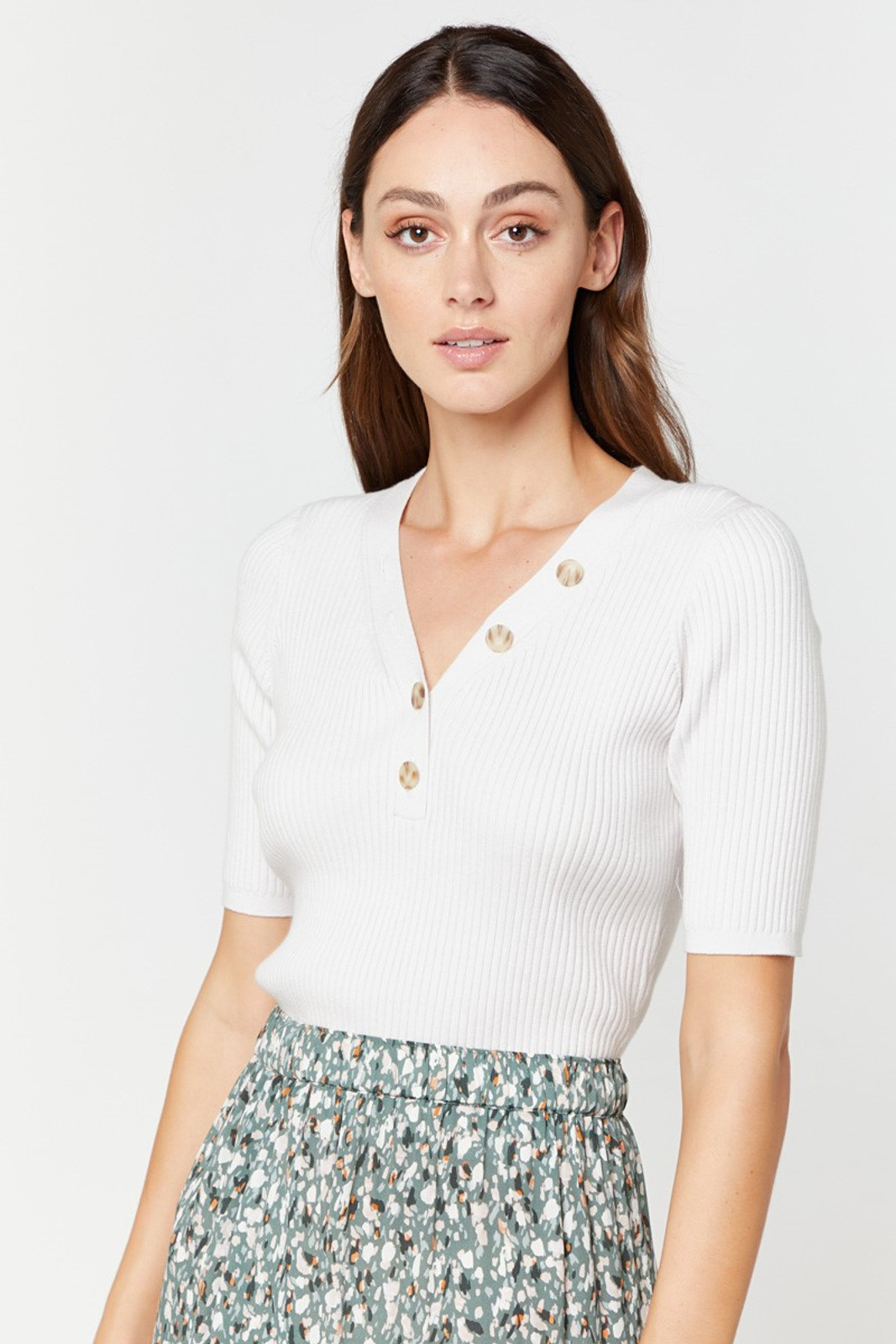 Elka Collective Sherry Knit Top Neutrals  10
