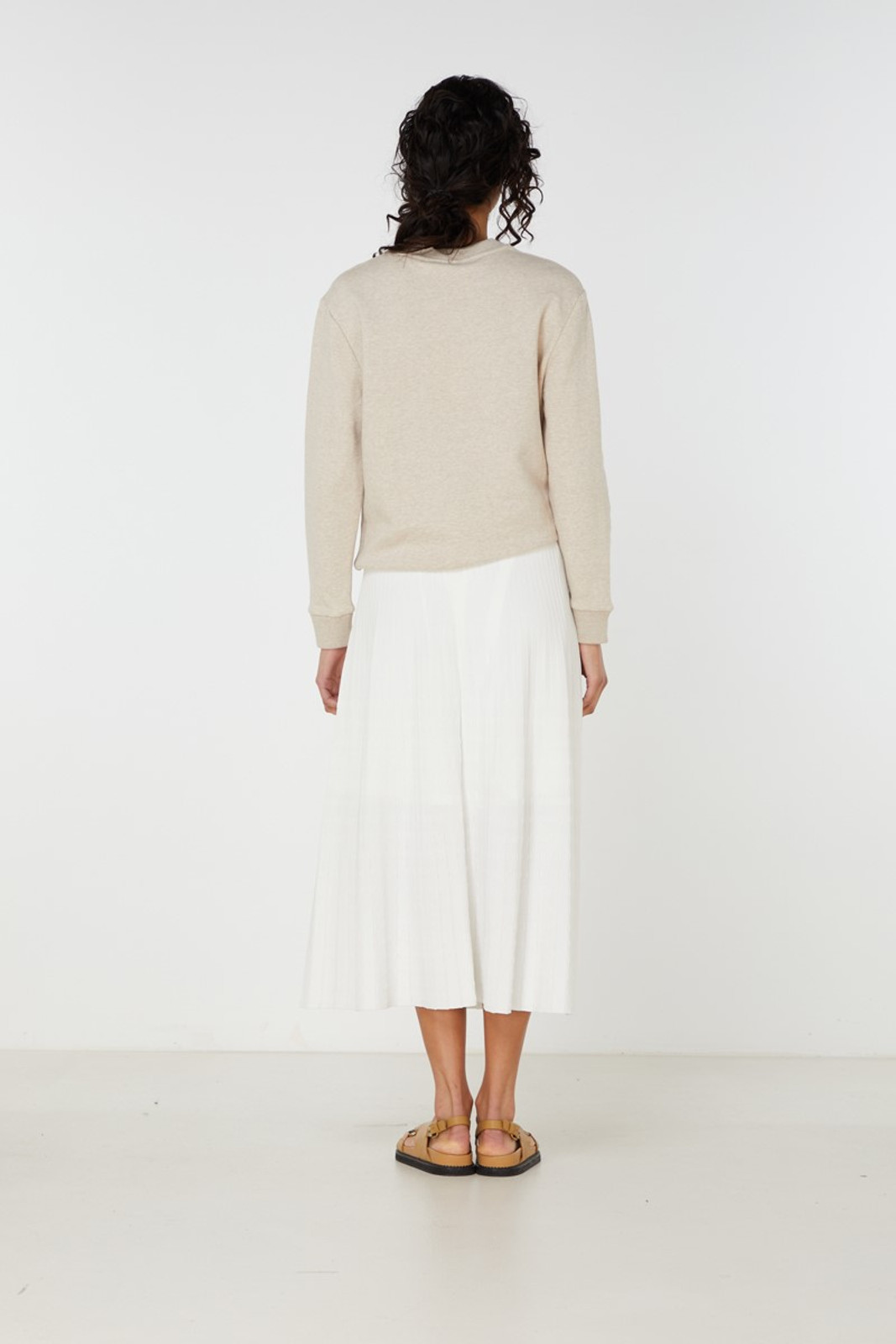 Elka Collective Raquel Knit Skirt White  5