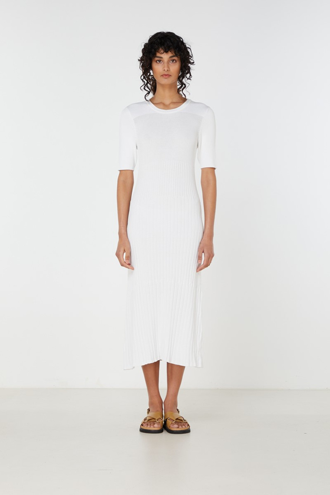 Elka Collective Chantilly Dress White  0