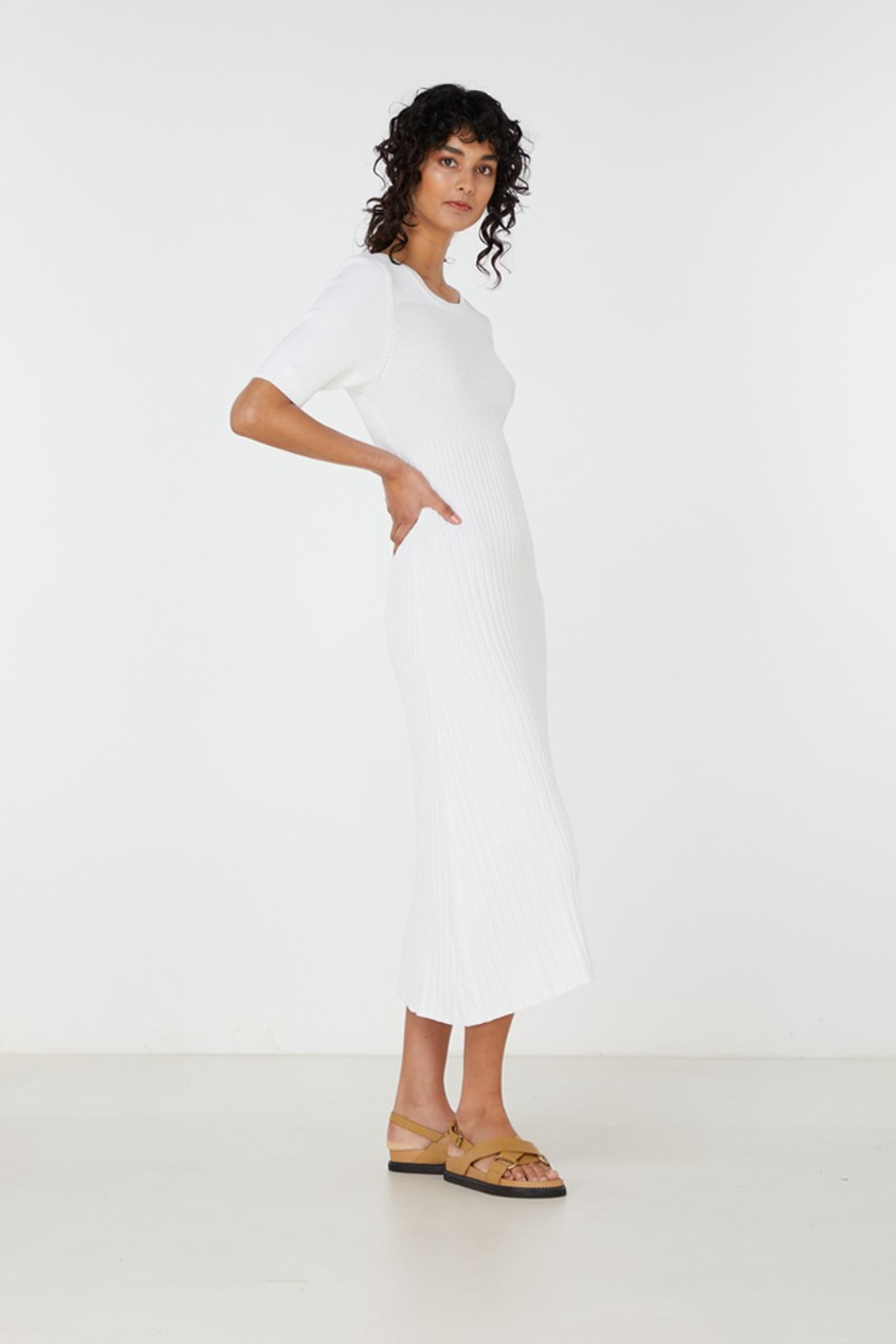 Elka Collective Chantilly Dress White  4