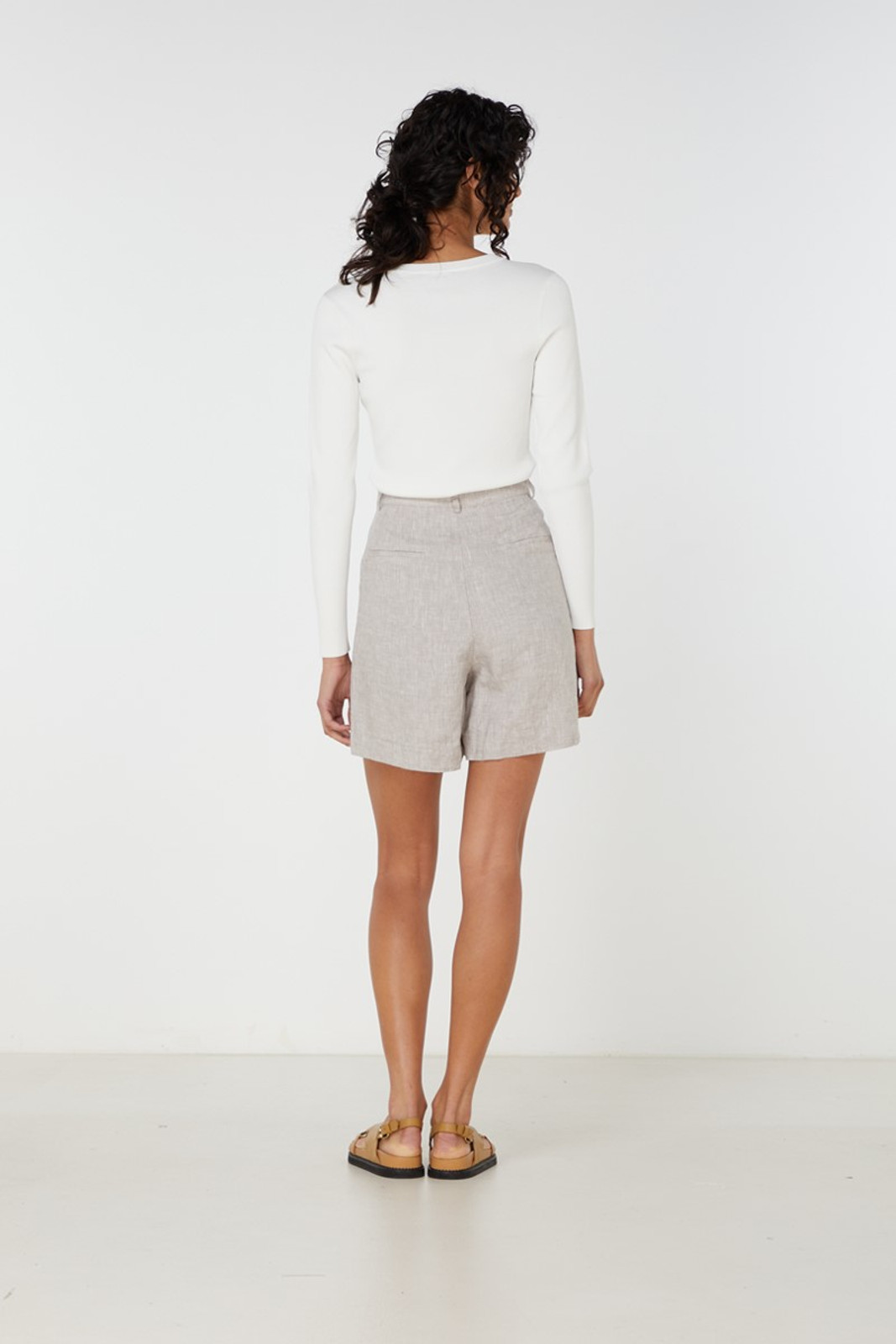 Elka Collective Imani Knit Top White  4