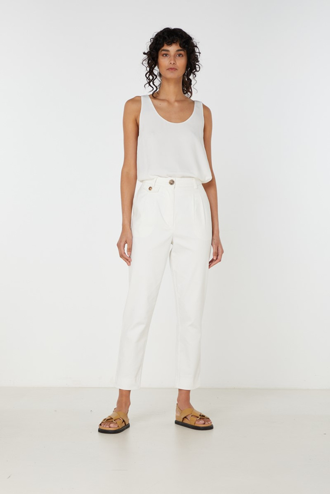 Elka Collective Desi Pant White  0