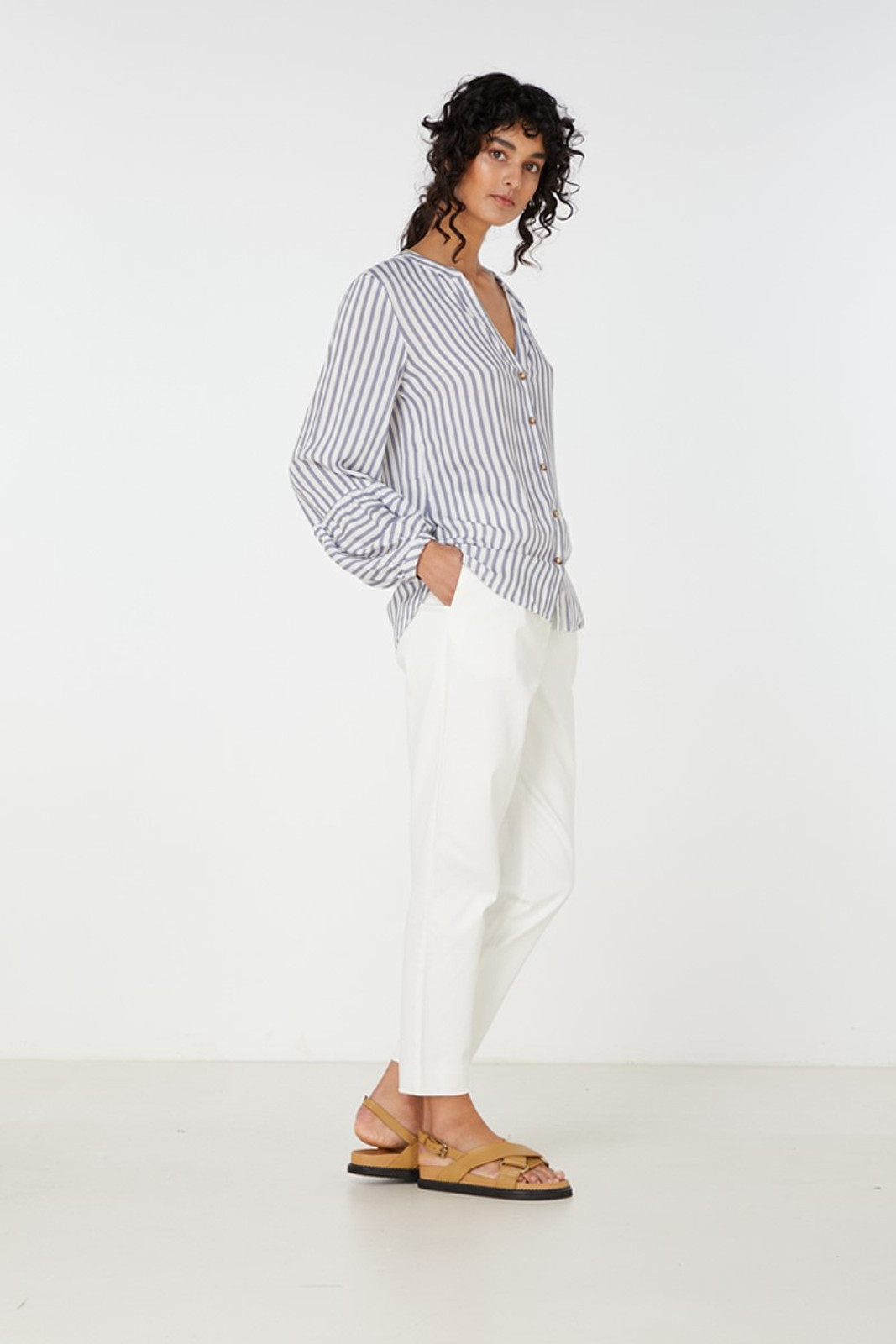 Elka Collective Leila Shirt Blue  4