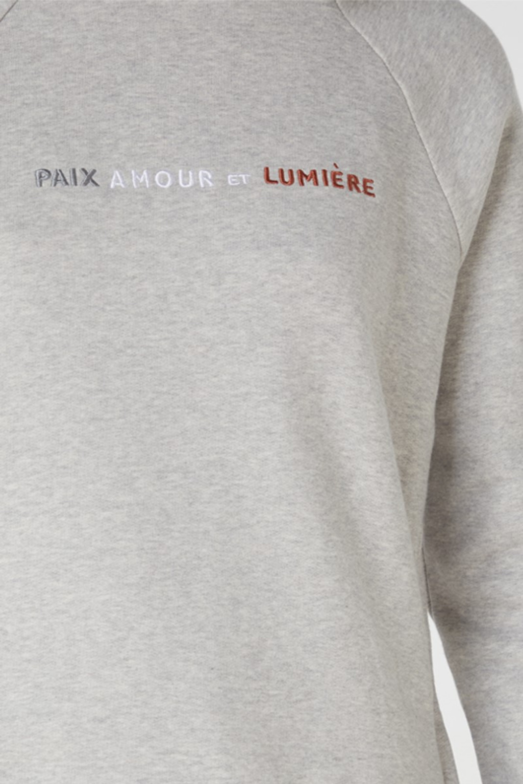 Elka Collective Paix Amour Sweat Grey  5