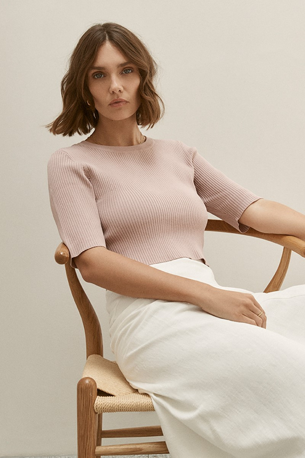 Elka Collective Airley Knit Top Pink  1