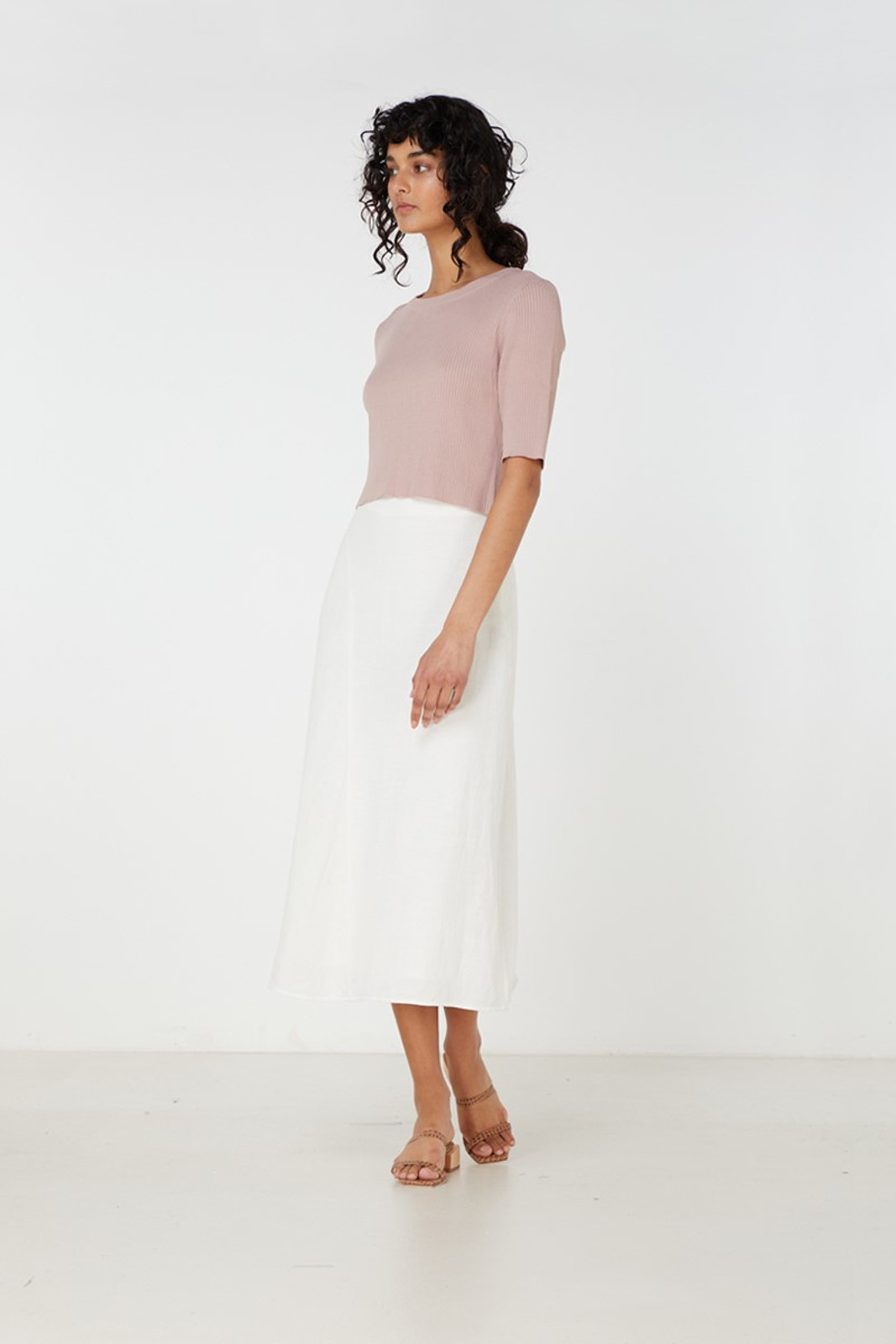 Elka Collective Airley Knit Top Pink  2