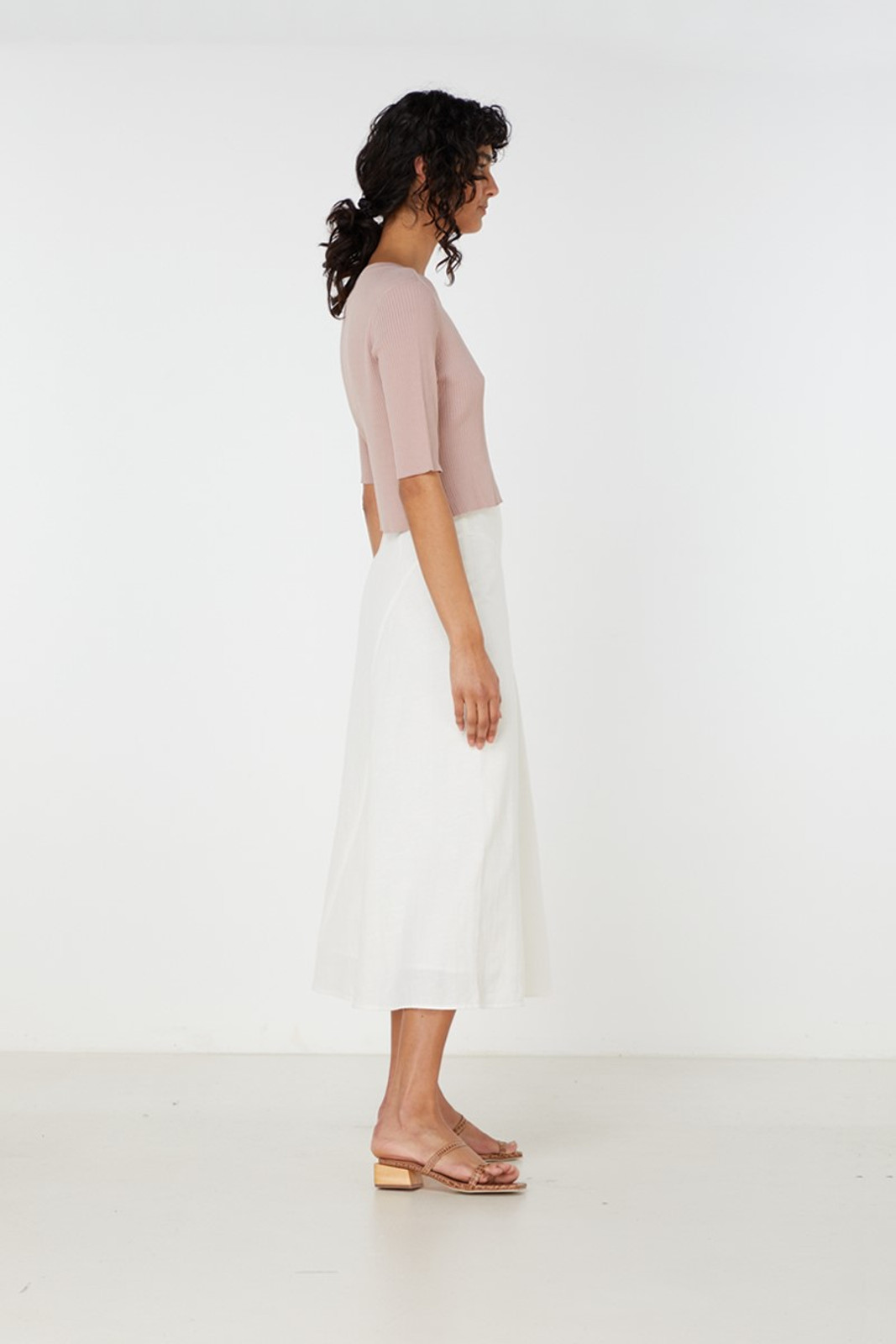 Elka Collective Airley Knit Top Pink  3