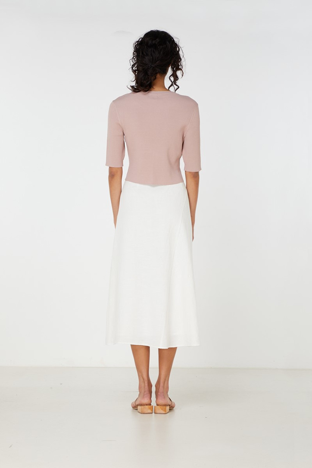 Elka Collective Airley Knit Top Pink  4