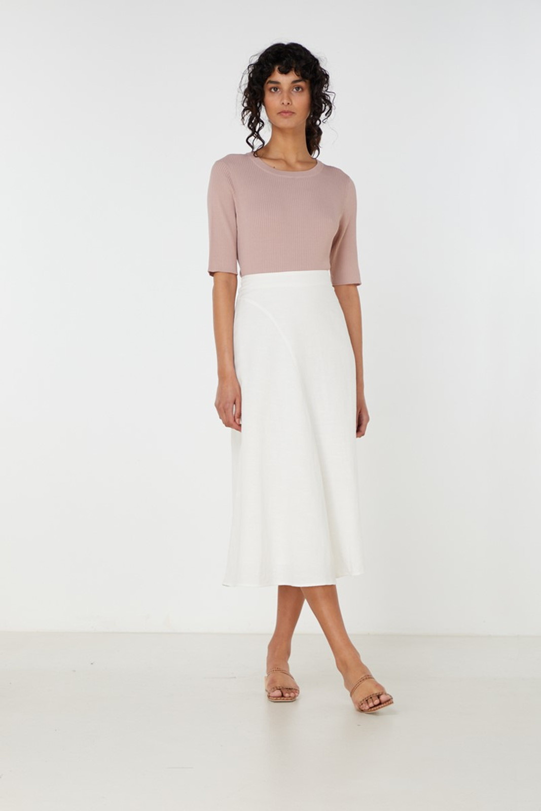 Elka Collective Airley Knit Top Pink  6