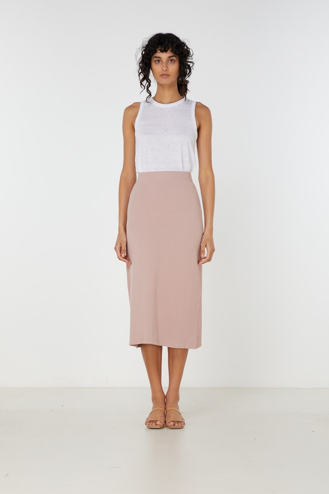 Elka Collective Airley Knit Skirt Pink  0