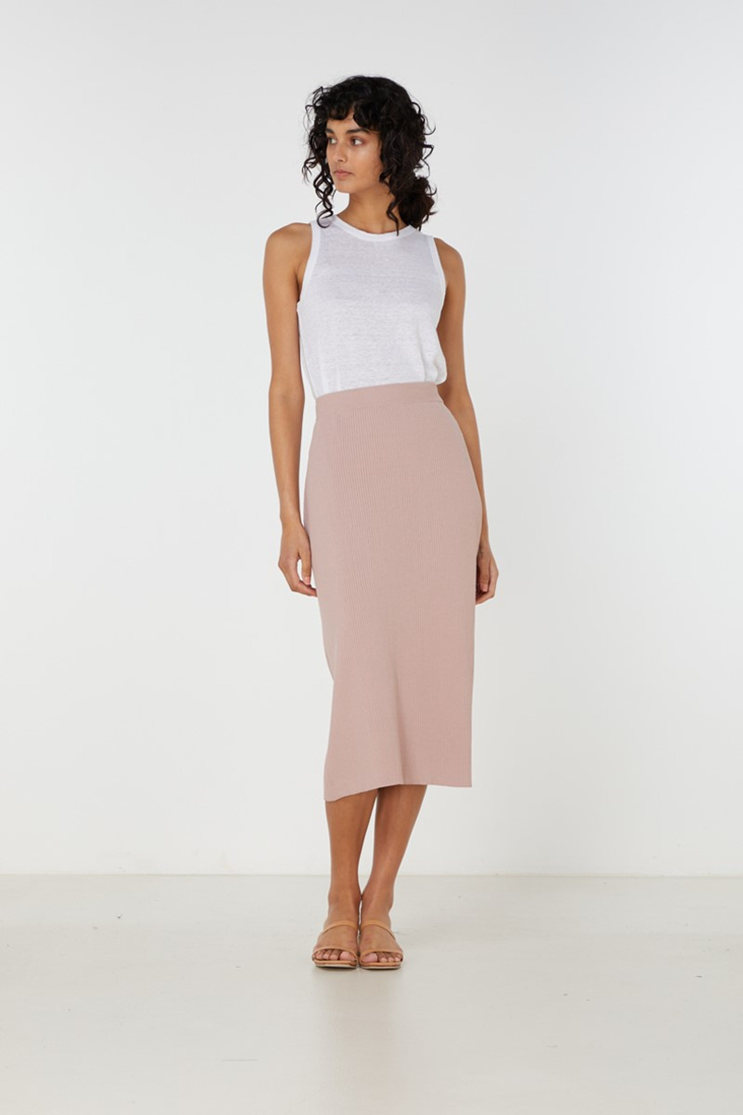 Elka Collective Airley Knit Skirt Pink  1