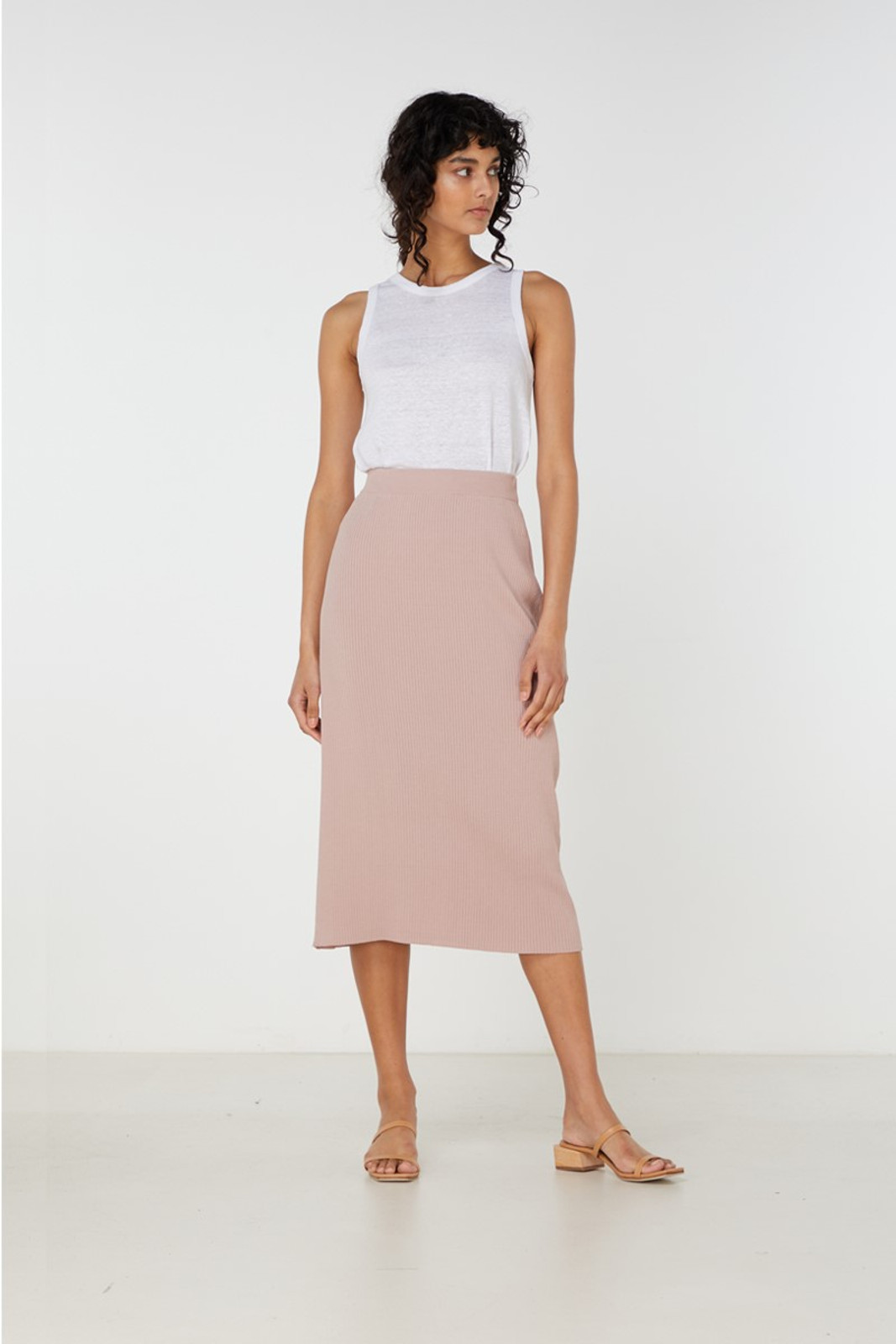 Elka Collective Airley Knit Skirt Pink  2