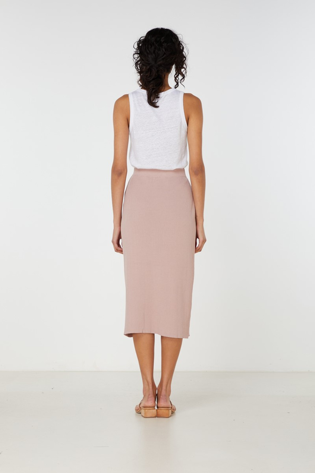 Elka Collective Airley Knit Skirt Pink  4
