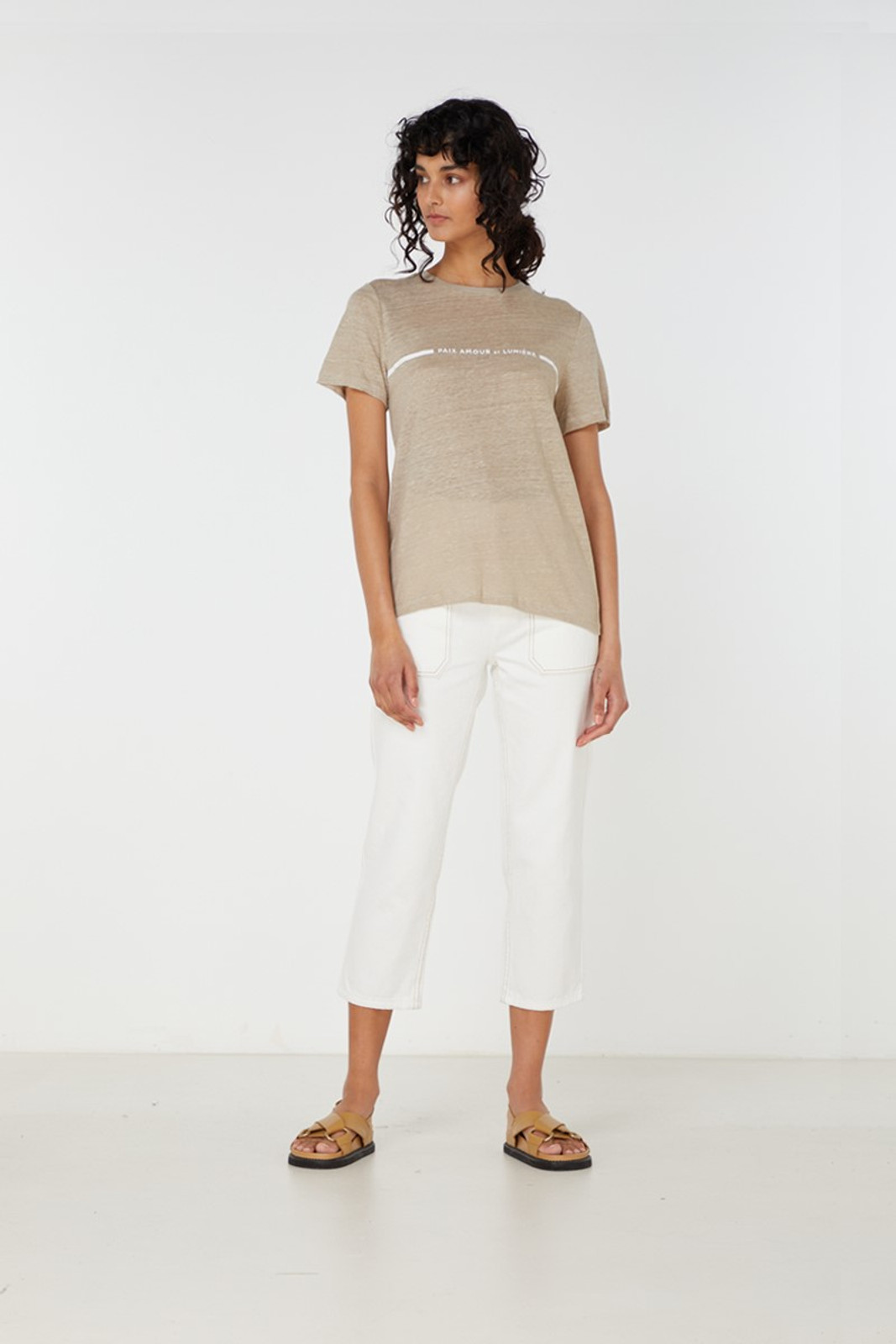 Elka Collective Paix Amour Tee Neutrals  0