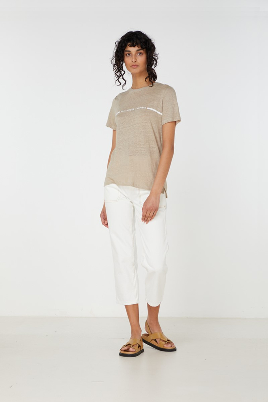 Elka Collective Paix Amour Tee Neutrals  1