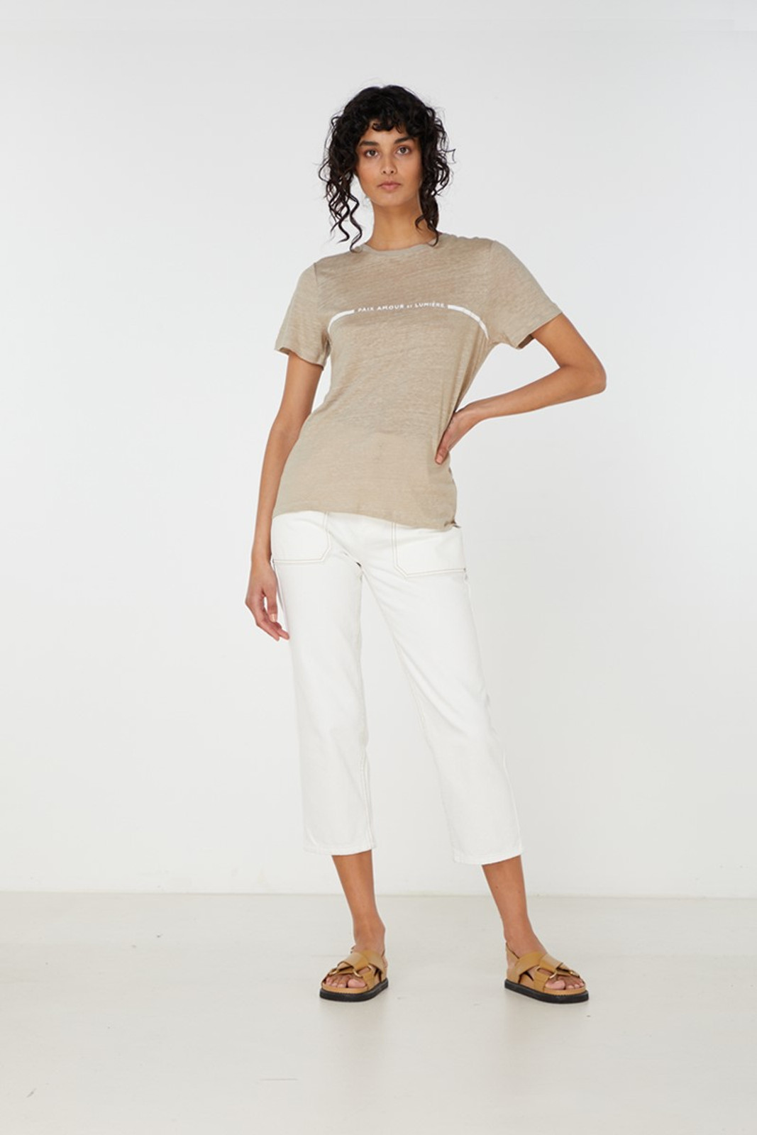Elka Collective Paix Amour Tee Neutrals  2