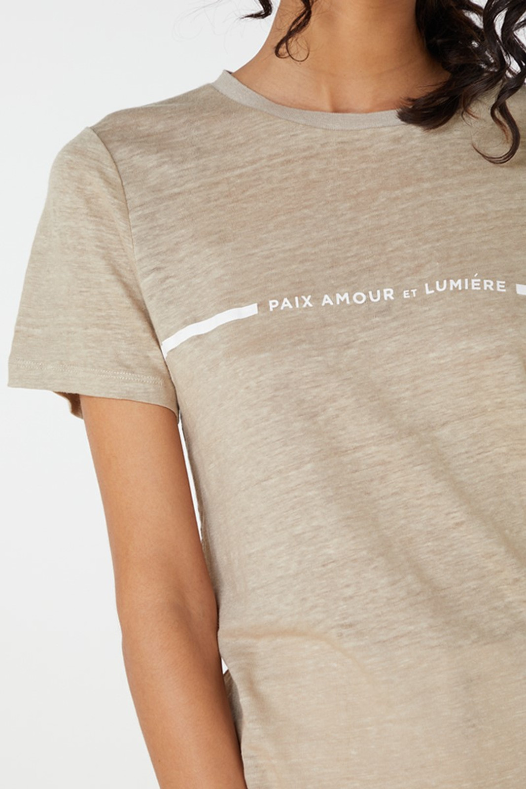 Elka Collective Paix Amour Tee Neutrals  5