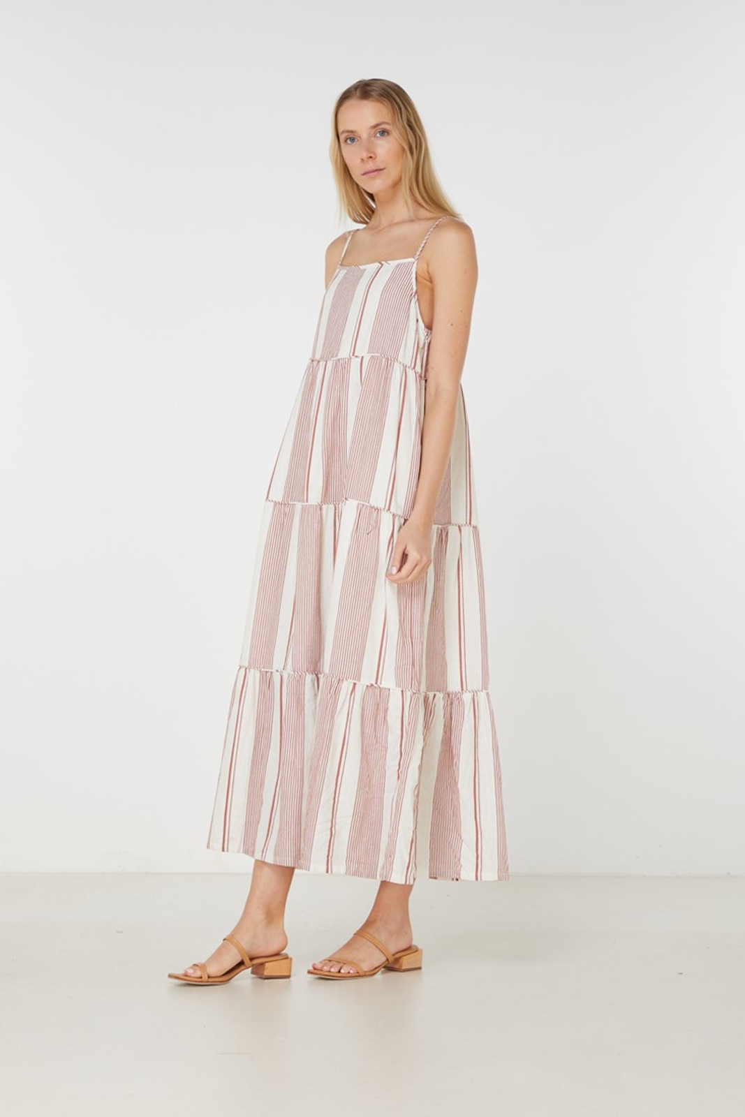 Elka Collective Adele Maxi Dress Brown  3