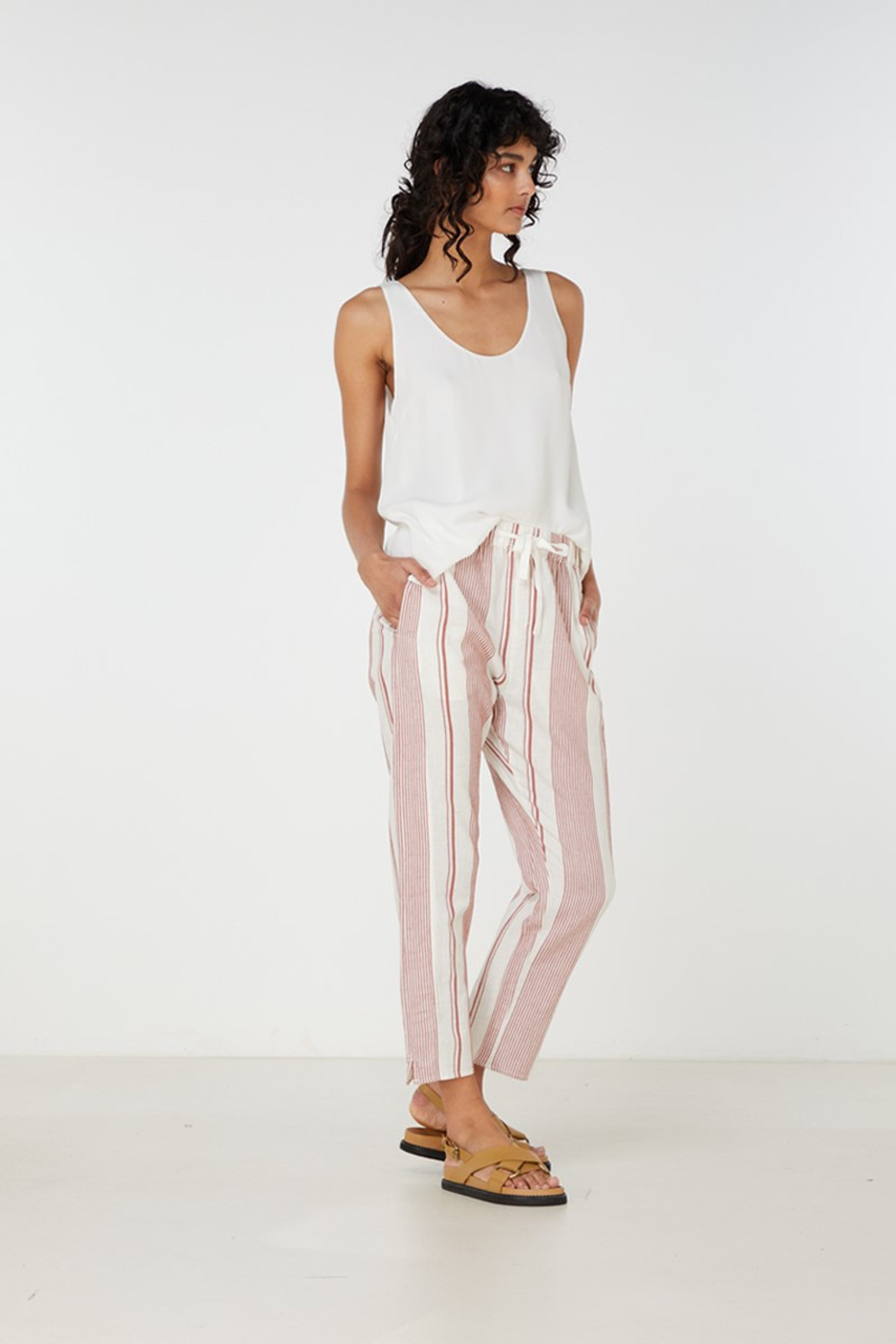 Elka Collective Adele Pant Brown  2