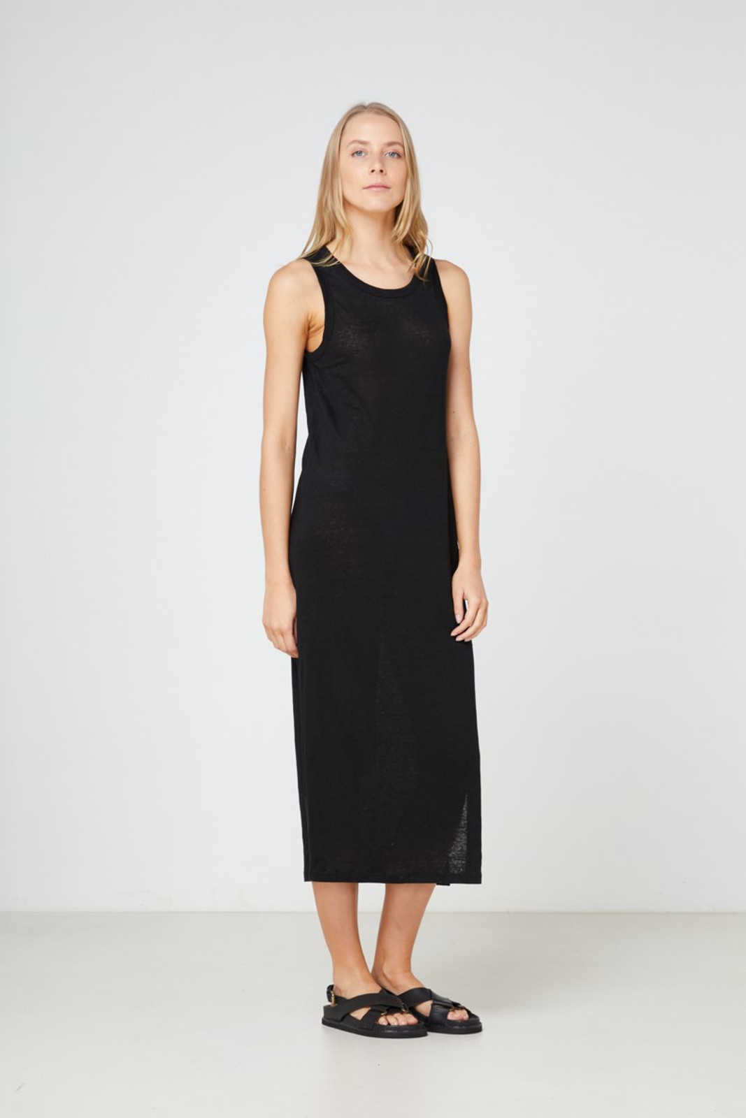 Elka Collective EC Linen Tank Dress 2.0 Black  1