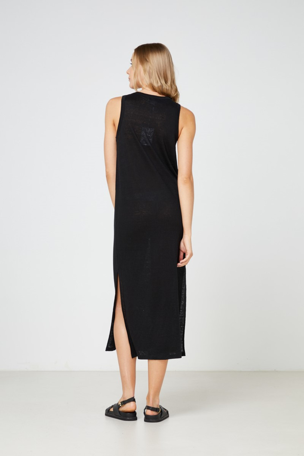 Elka Collective EC Linen Tank Dress 2.0 Black  5