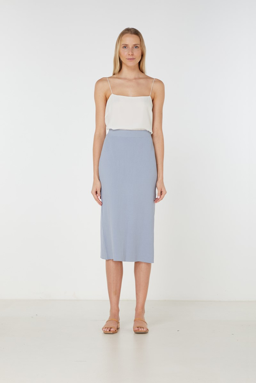 Elka Collective Airley Knit Skirt Blue  0