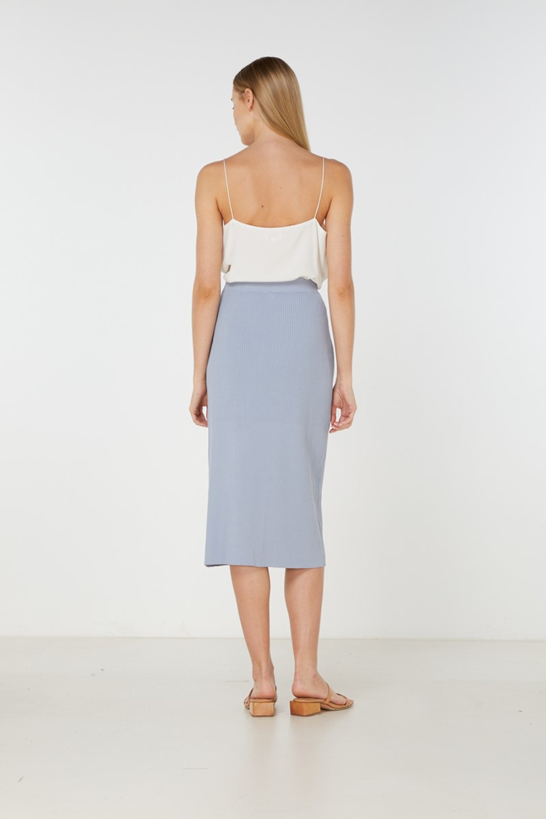 Elka Collective Airley Knit Skirt Blue  3